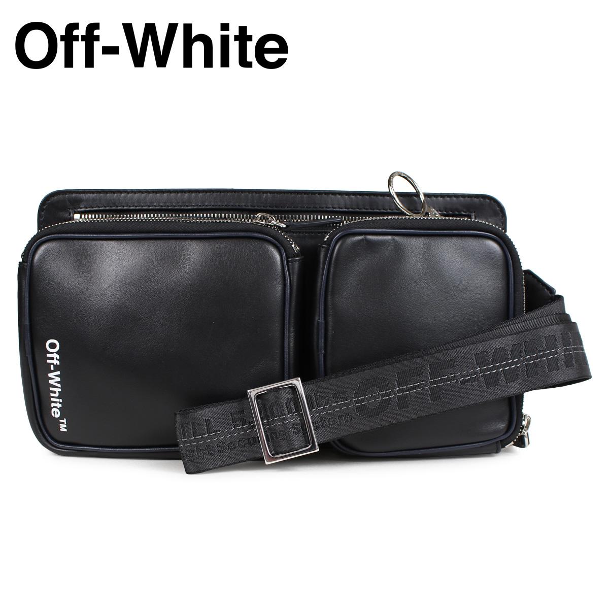 Off-white HIP BAG オフホワイト ショルダーバッグ ヒップバッグ メンズ レディース ブラック OMNA048 1001
