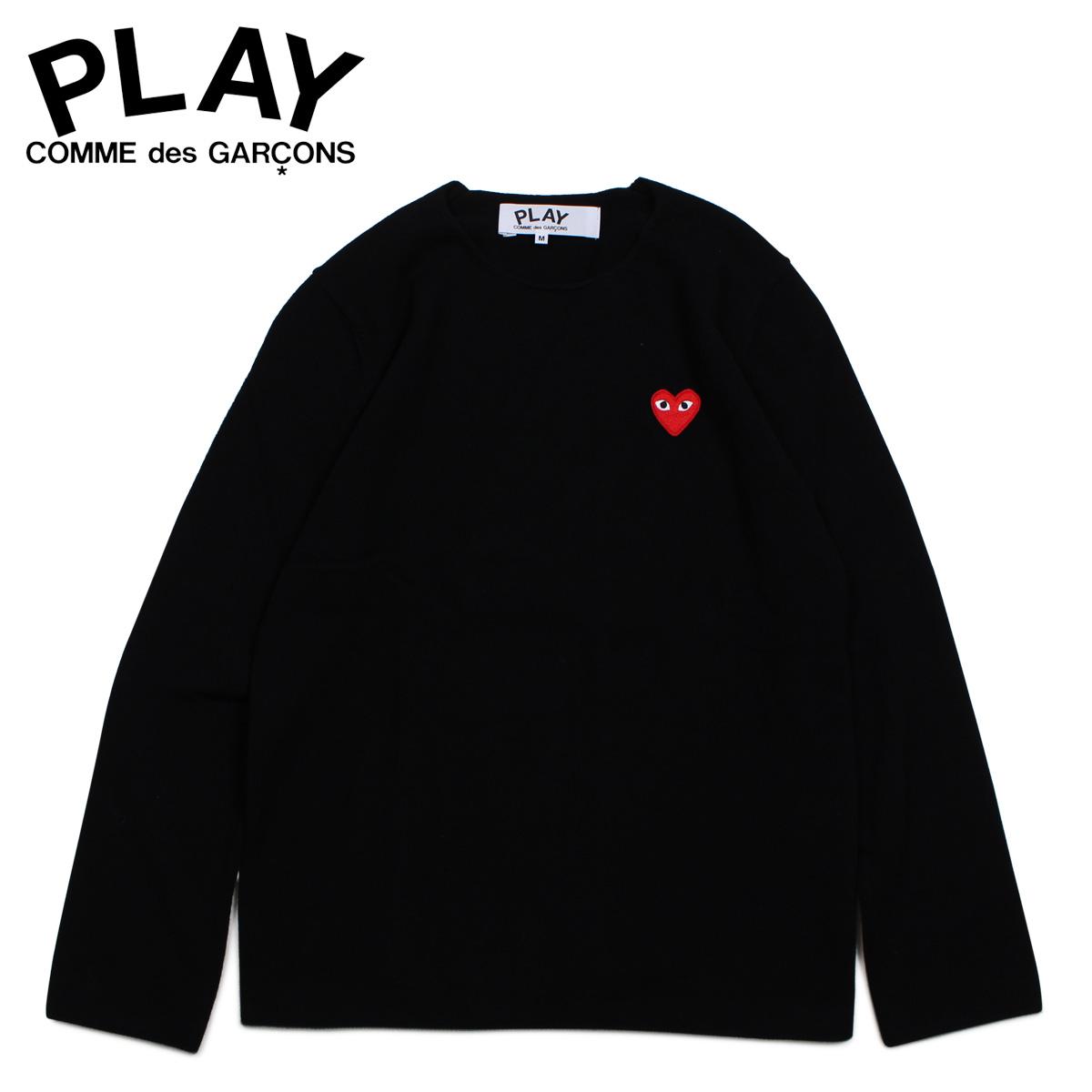 PLAY COMME des GARCONS RED HEART CREW NECK SWEATER コムデギャルソン ニット セーター メンズ ブラック 黒 AZ-N068 [4/1 新入荷]