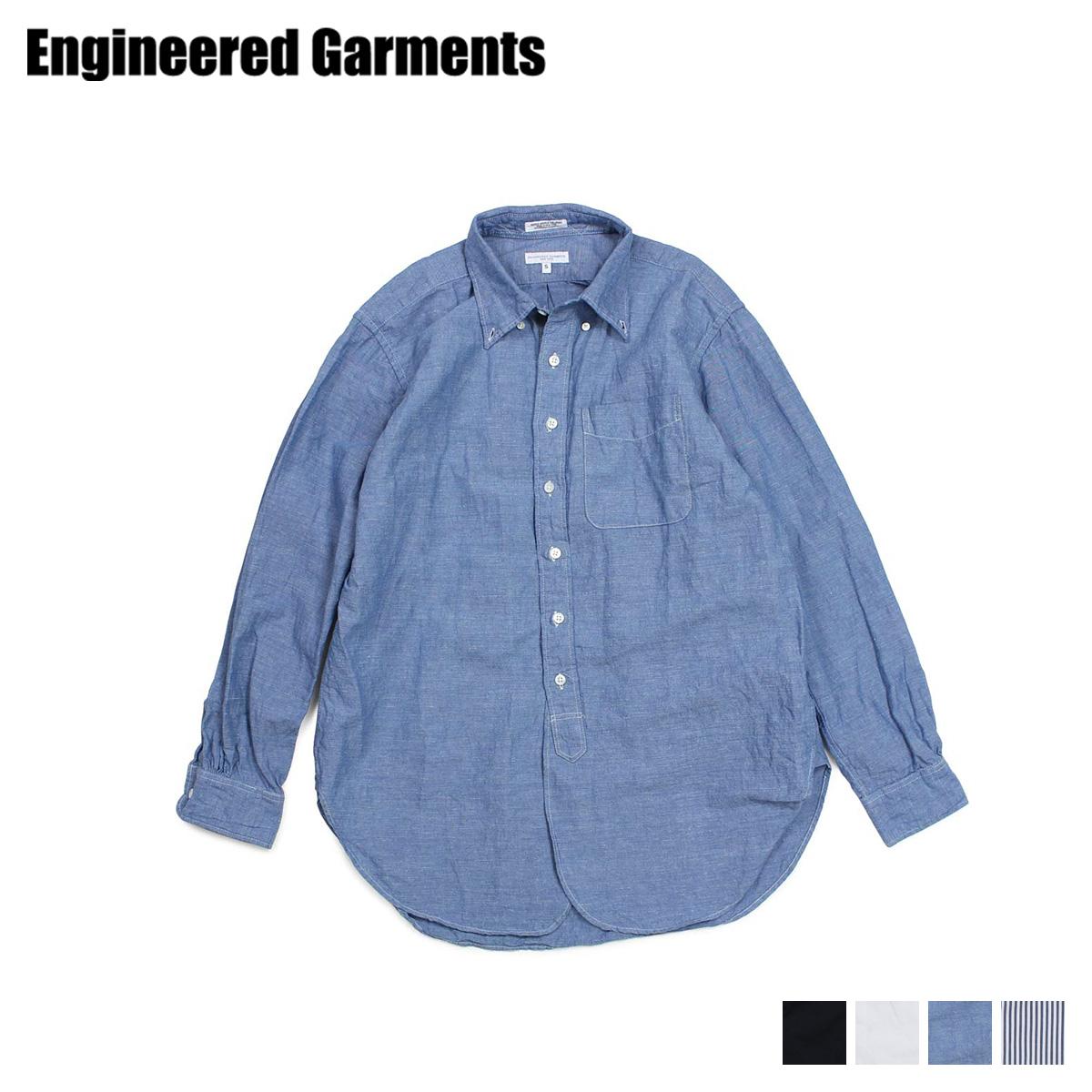 ENGINEERED GARMENTS 19 CENTURY BUTTON DOWN SHIRT エンジニアドガーメンツ シャツ 長袖 オックスフォードシャツ メンズ ブラック ホワイト ブルー 黒 白 19SA001 [3/28 新入荷]