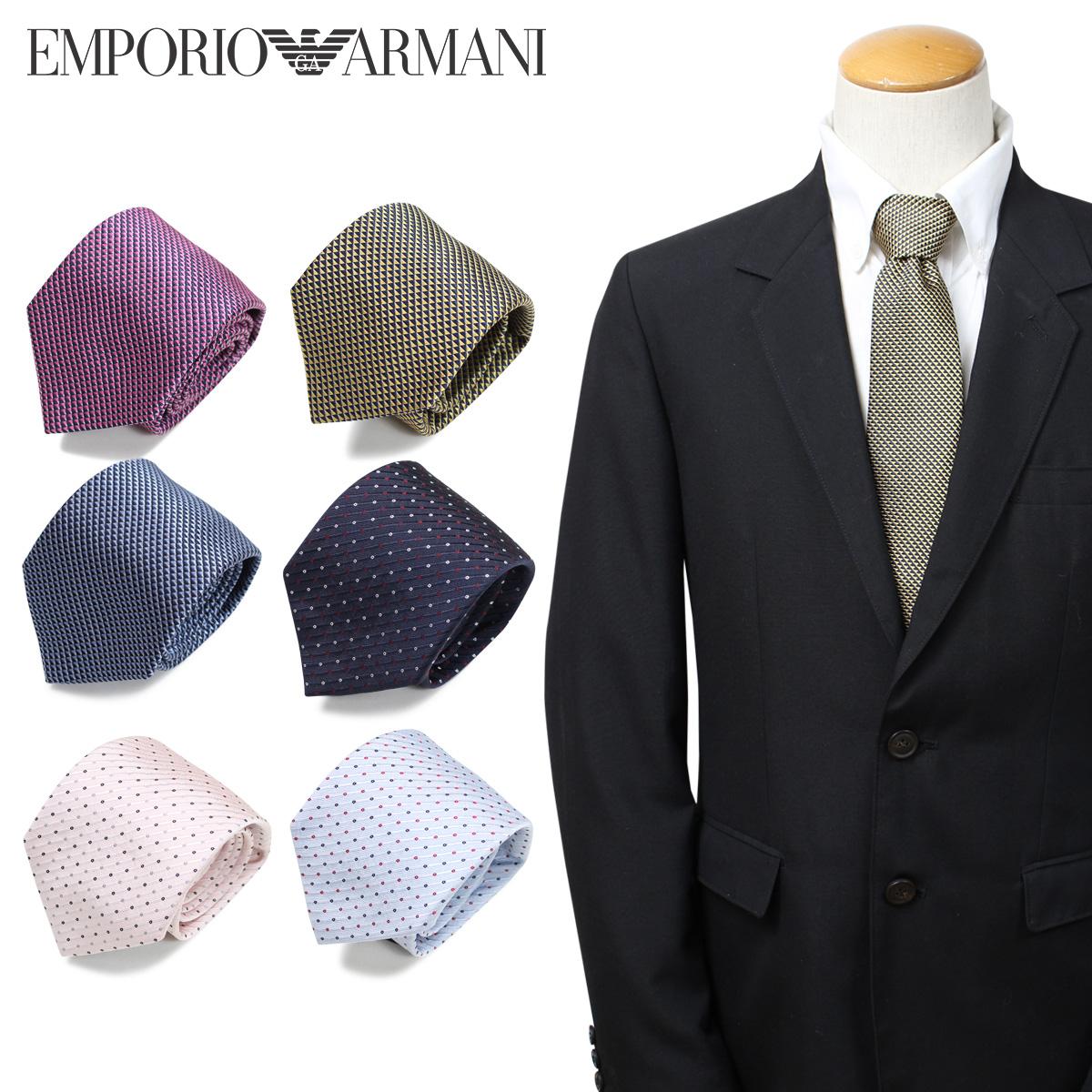 EMPORIO ARMANI エンポリオ アルマーニ ネクタイ メンズ イタリア製 シルク ビジネス 結婚式 [3/22 新入荷]