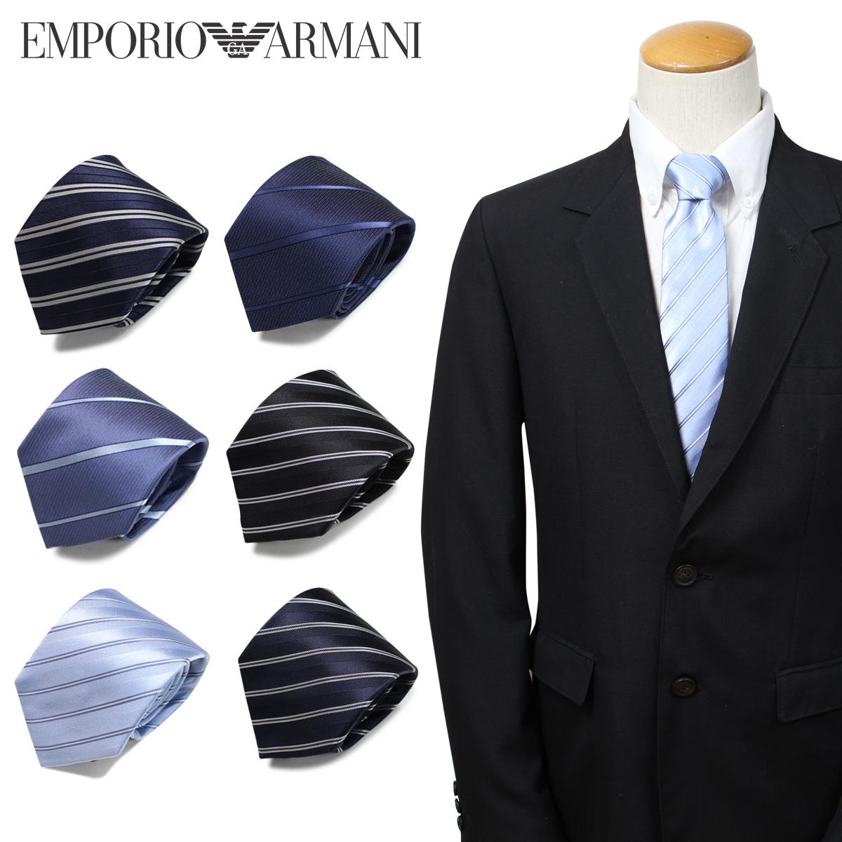 EMPORIO ARMANI エンポリオ アルマーニ ネクタイ メンズ イタリア製 シルク ビジネス 結婚式 [3/25 新入荷]
