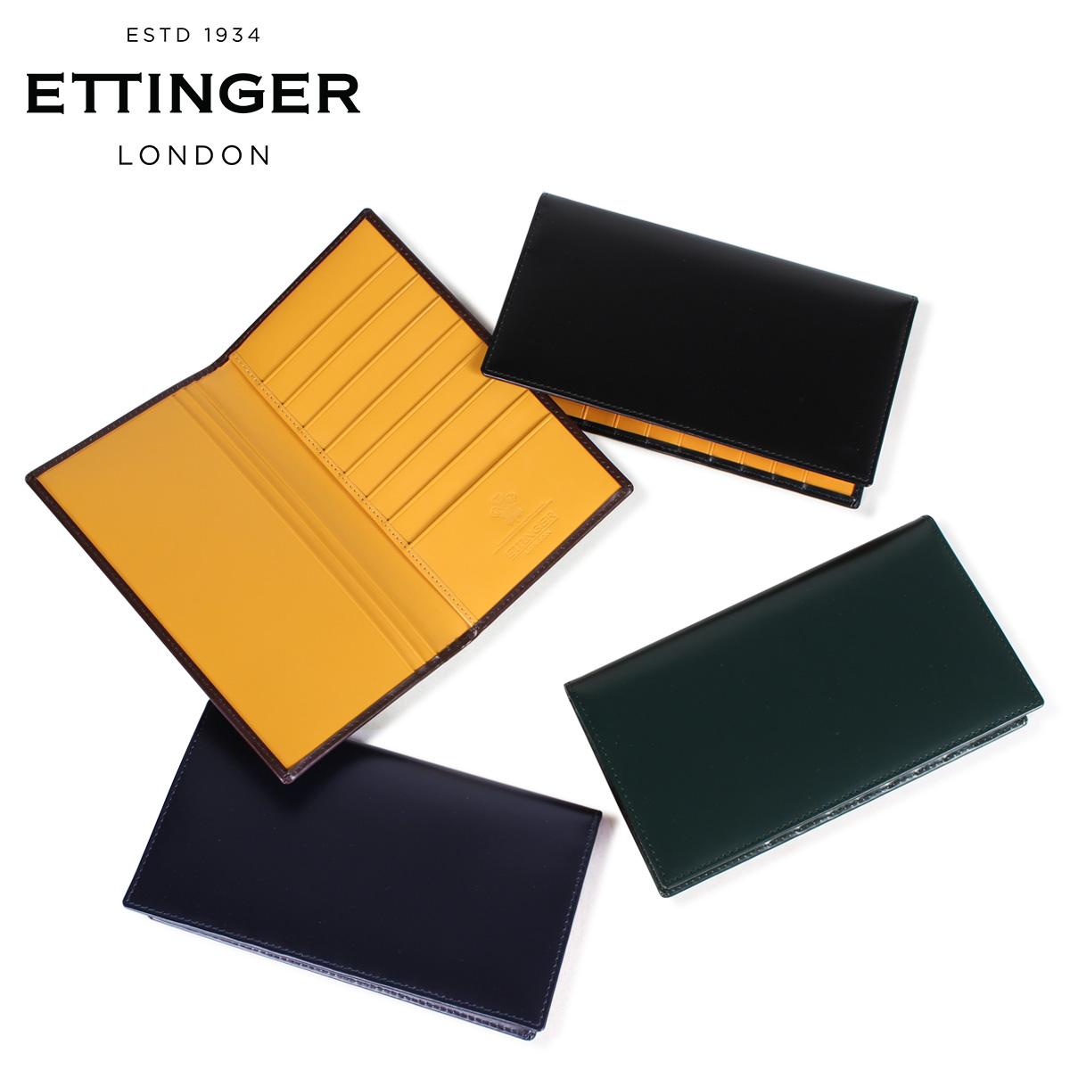 ETTINGER COAT WALLET WITH CARD CASE エッティンガー 財布 長財布 メンズ レザー ブラック ネイビー ブラウン グリーン 黒 BH806