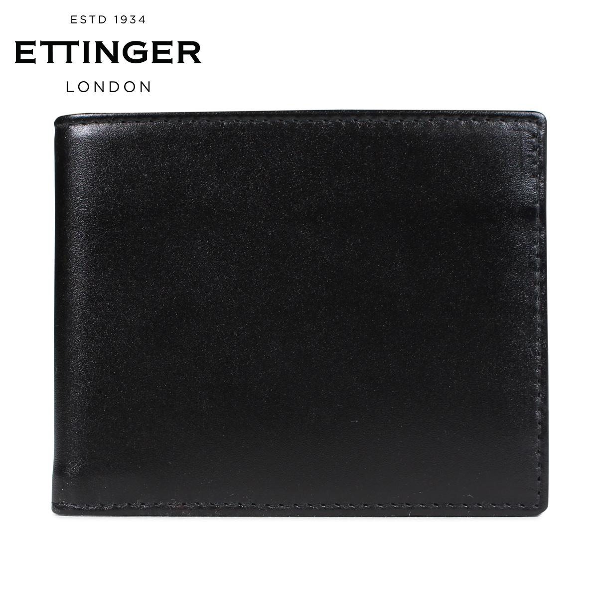 ETTINGER BILLFOLD WALLET WITH CARD CASE エッティンガー 財布 二つ折り メンズ レザー ブラック 黒 ST030CJR [3/18 新入荷]