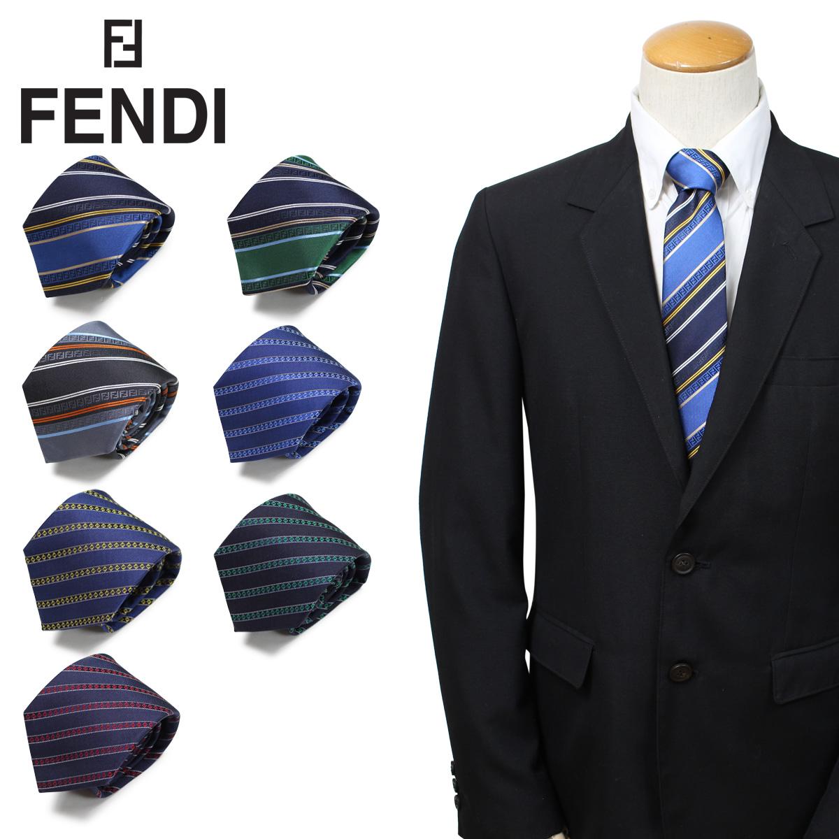 FENDI フェンディ ネクタイ メンズ イタリア製 シルク ビジネス 結婚式 [3/26 新入荷]