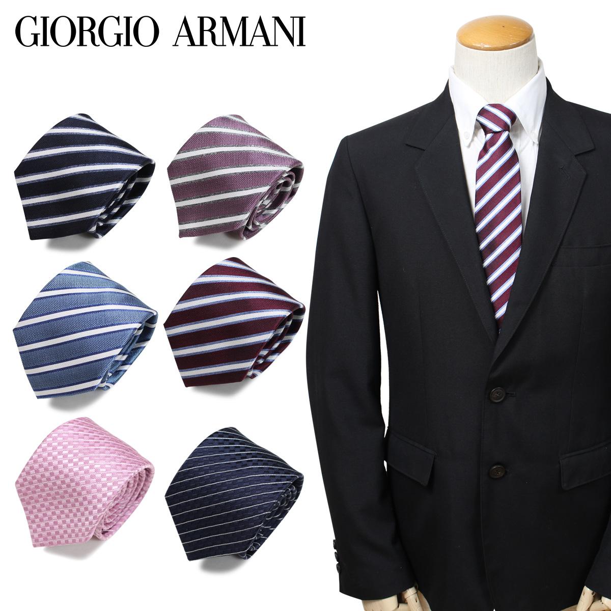 GIORGIO ARMANI ジョルジオ アルマーニ メンズ ネクタイ イタリア製 シルク ビジネス 結婚式
