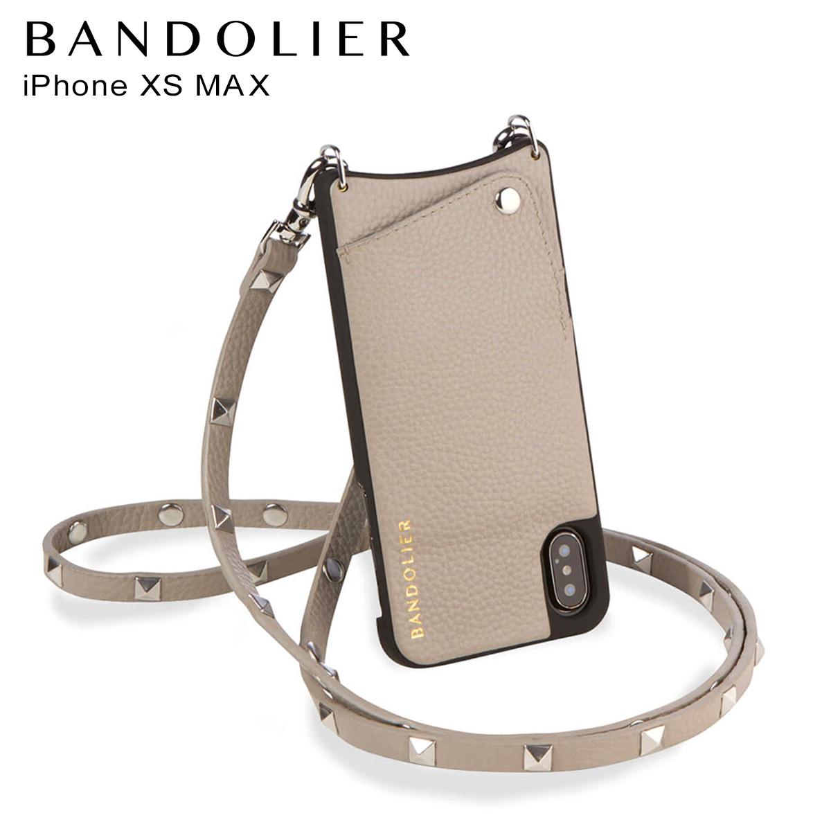 BANDOLIER iPhone XS MAX SARAH GREIGE バンドリヤー ケース スマホ アイフォン レザー メンズ レディース グレージュ 10SAR [7/30 再入荷]