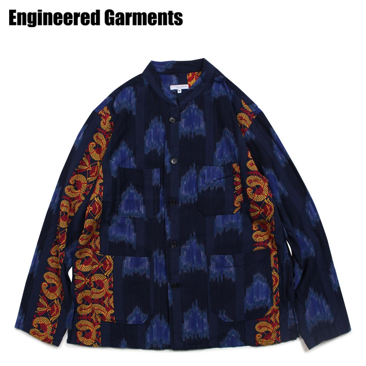 ENGINEERED GARMENTS DAYTON SHIRT エンジニアドガーメンツ シャツ 長袖 バンドカラーシャツ メンズ ネイビー 19SA009-Q [4/24 新入荷]
