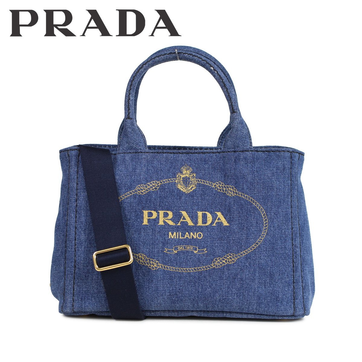 PRADA CANAPA プラダ バッグ トートバッグ ショルダー カナパ レディース 2WAY デニム ブルー 1BG439V 0Y0AJ6 F0008