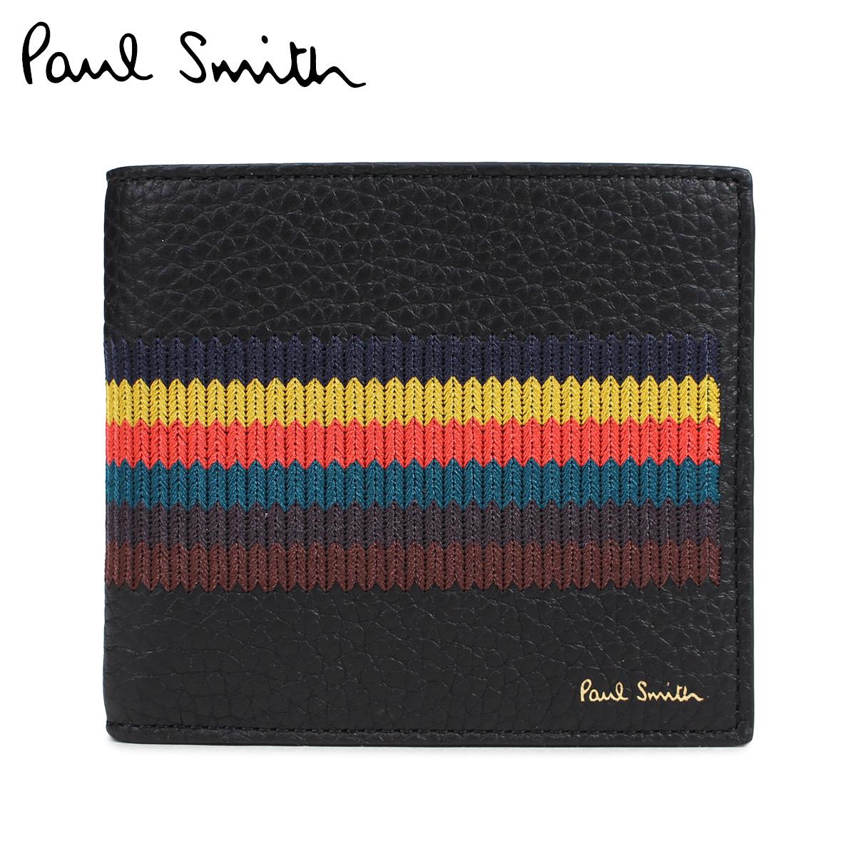 Paul Smith BI-FOLD WALLET ポールスミス 財布 二つ折りメンズ レザー ブラック 黒 M1A 4833 A40074