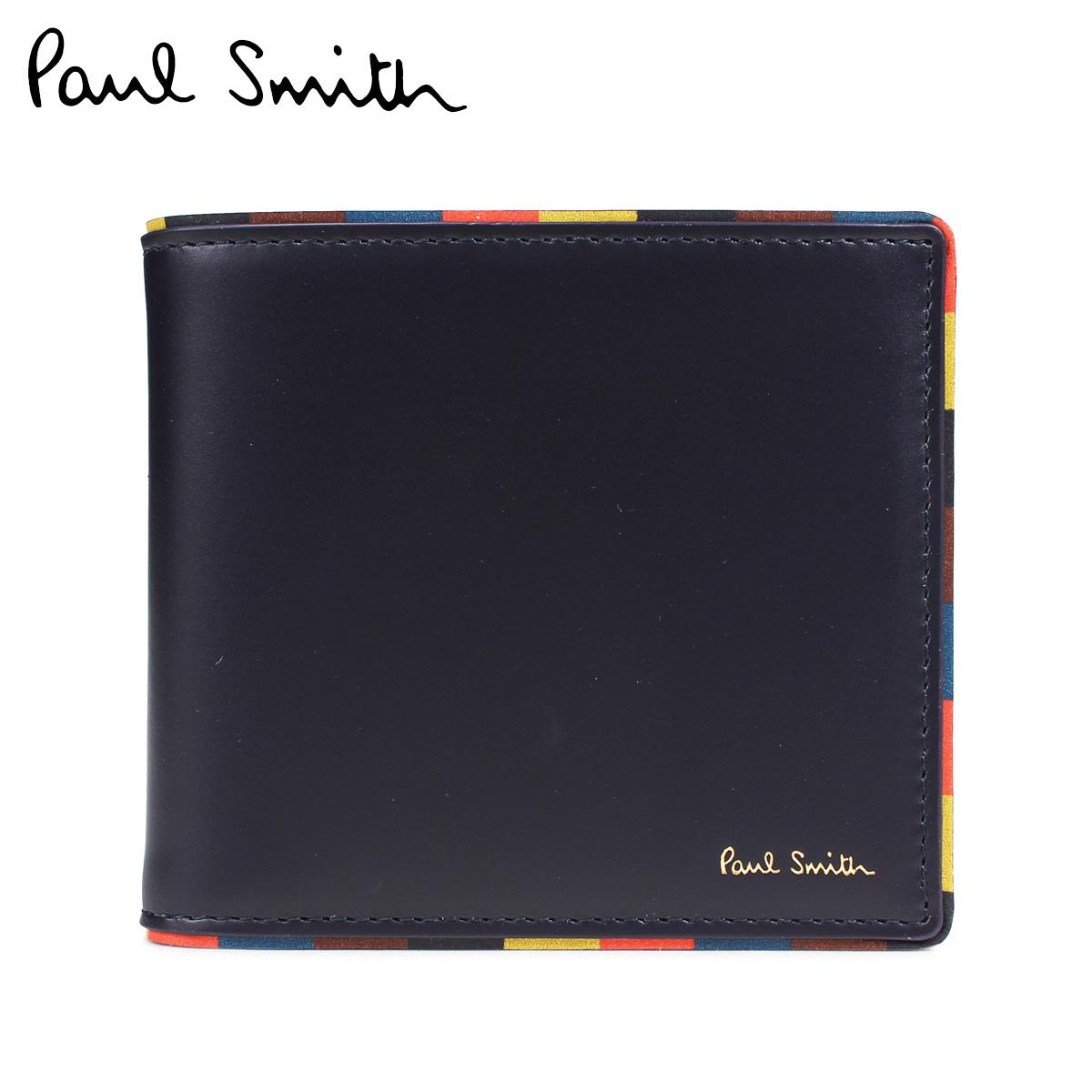 Paul Smith BI-FOLD WALLET ポールスミス 財布 二つ折りメンズ レザー ネイビー M1A 4833 AEDGE