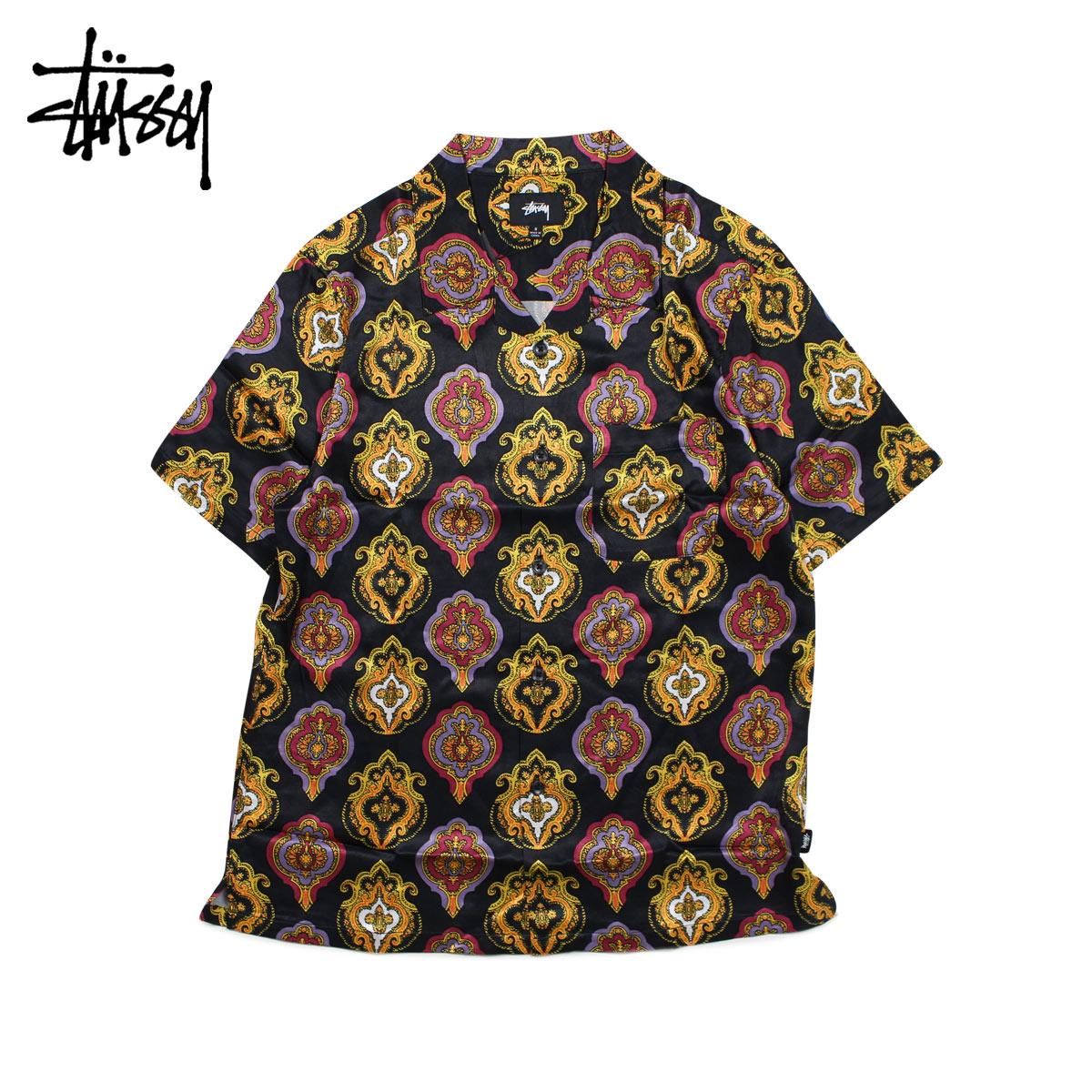STUSSY SHIELD SHIRT ステューシー シャツ メンズ 半袖 ブラック 黒 1110027 [6/18 新入荷]