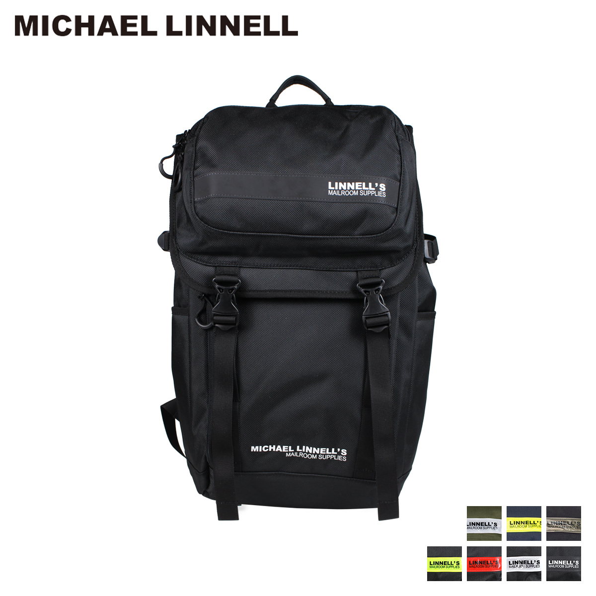 MICHAEL LINNELL DOUBLE DECKER マイケルリンネル リュック バッグ 27L メンズ レディース バックパック ブラック ネイビー カーキ 黒 ML-018
