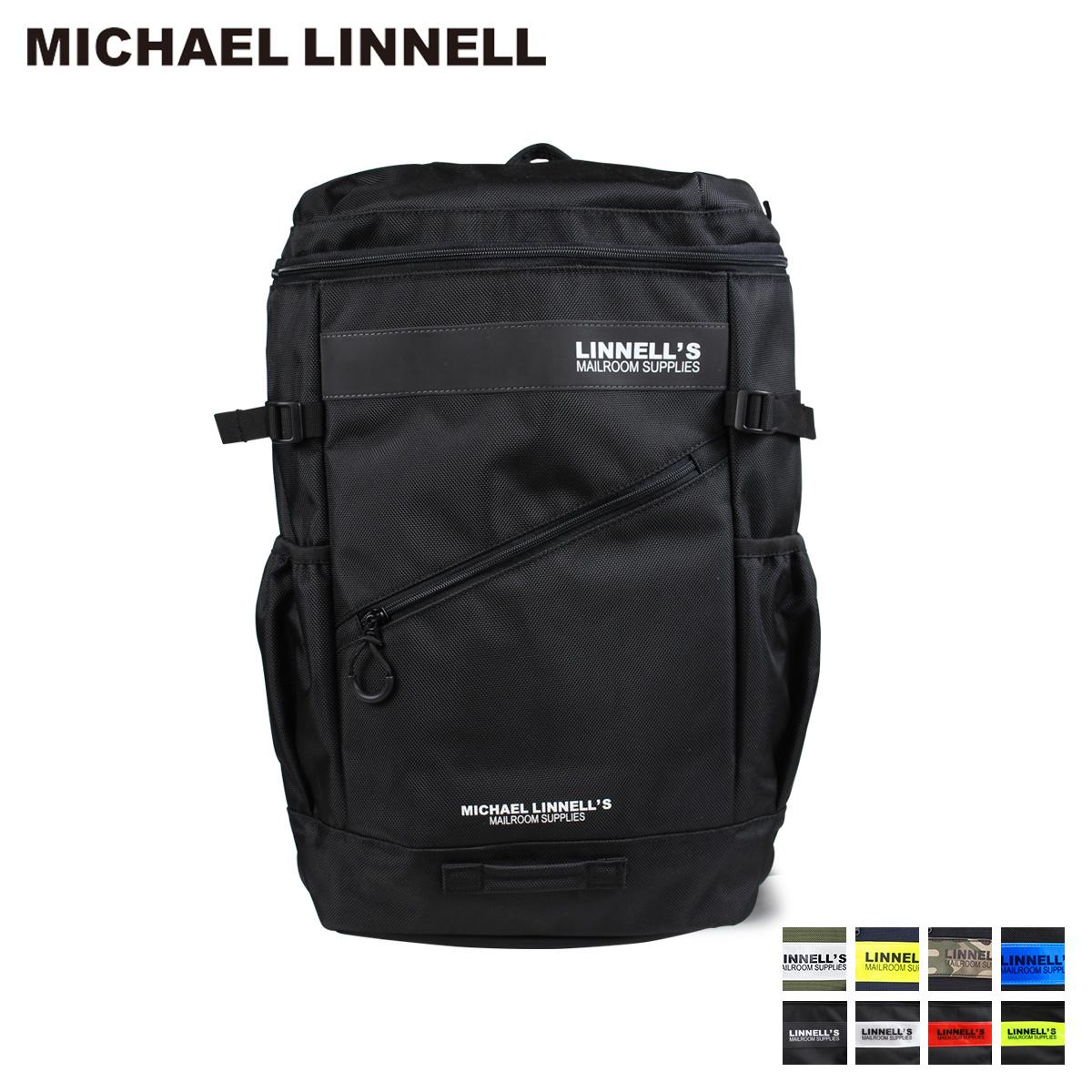 MICHAEL LINNELL BOX BACKPACK マイケルリンネル リュック バッグ 32L メンズ レディース バックパック ブラック ネイビー カーキ 黒 ML-020
