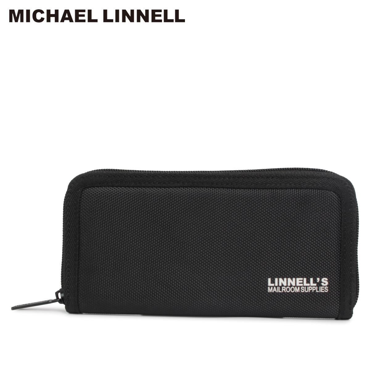 MICHAEL LINNELL MLWA-1680-05 マイケルリンネル 財布 長財布 メンズ レディース ラウンドファスナー WALLET ブラック 黒