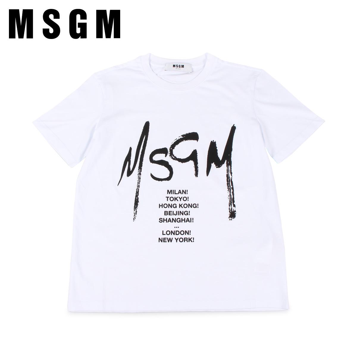 MSGM GRAPHIC LOGO T-SHIRT エムエスジーエム Tシャツ 半袖 レディース ホワイト 白 MDM174 01