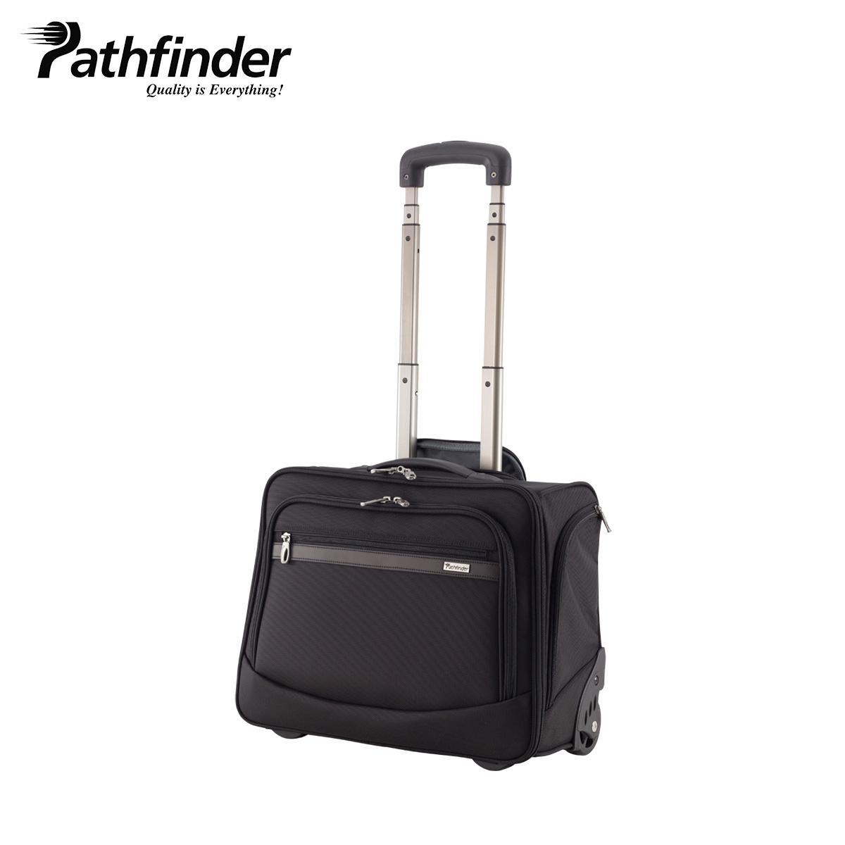 Pathfinder パスファインダー バッグ キャリーケース キャリーバッグ スーツケース 20L メンズ 機内持ち込み ソフト AVENGER ブラック 黒 PF1817B