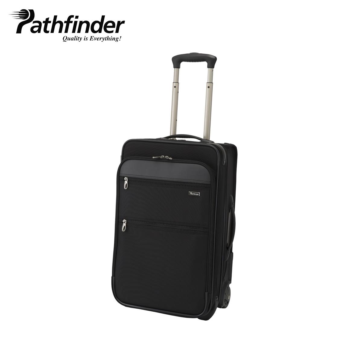 Pathfinder REVOLUTION XT パスファインダー バッグ キャリーケース キャリーバッグ スーツケース 37L-53L メンズ 機内持ち込み ソフト 拡張 ブラック 黒 PF6822DAXB