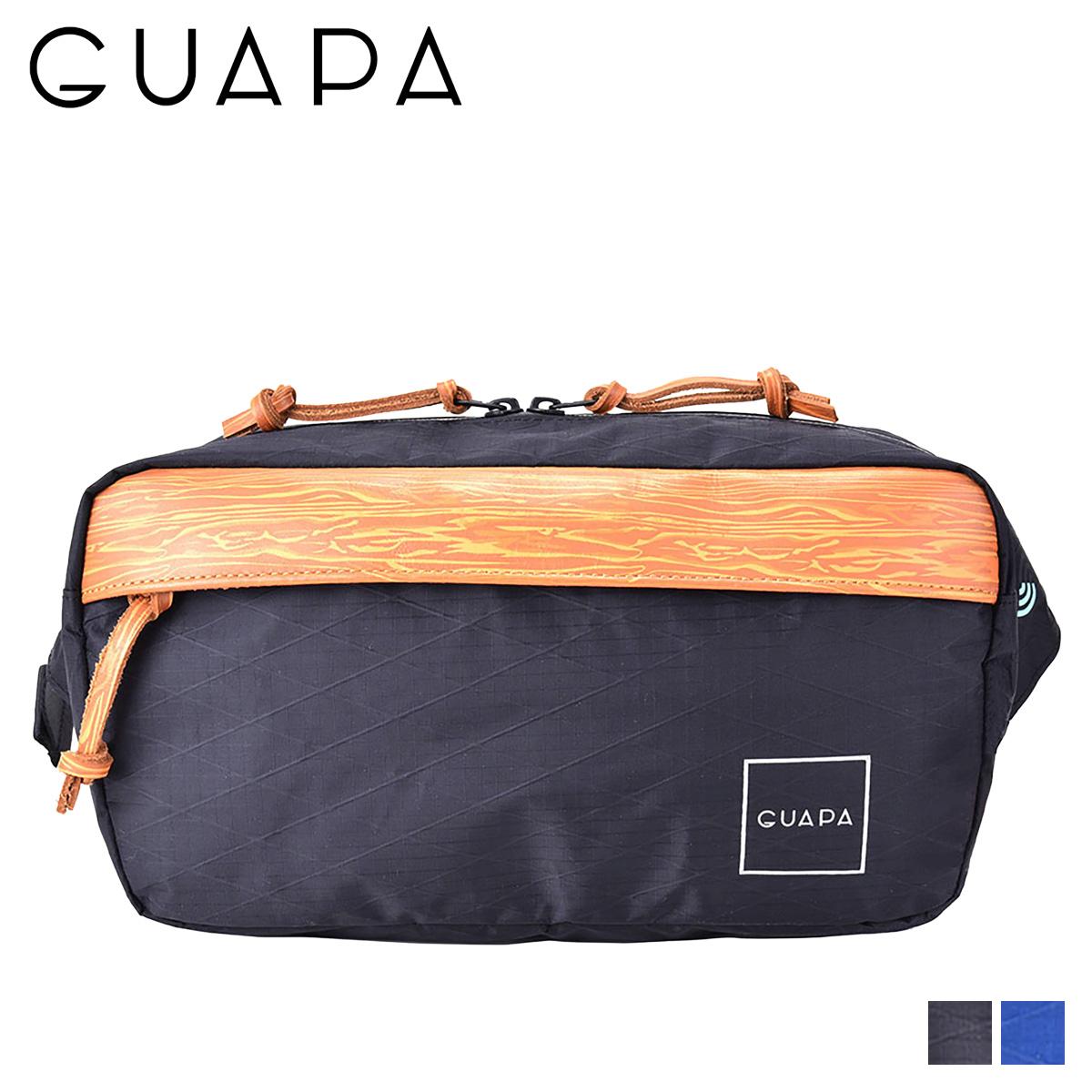 GUAPA X SERIES グアパ バッグ ウエストバッグ ボディバッグ ショルダー メンズ レディース ブラック ネイビー 黒 51002