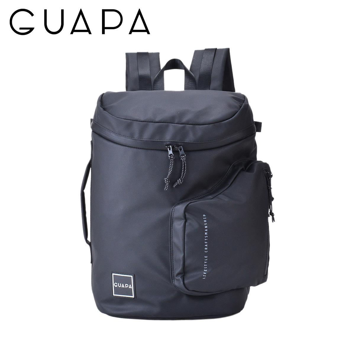 GUAPA GA SERIES グアパ リュック バッグ バックパック メンズ レディース 20L ブラック 黒 51009