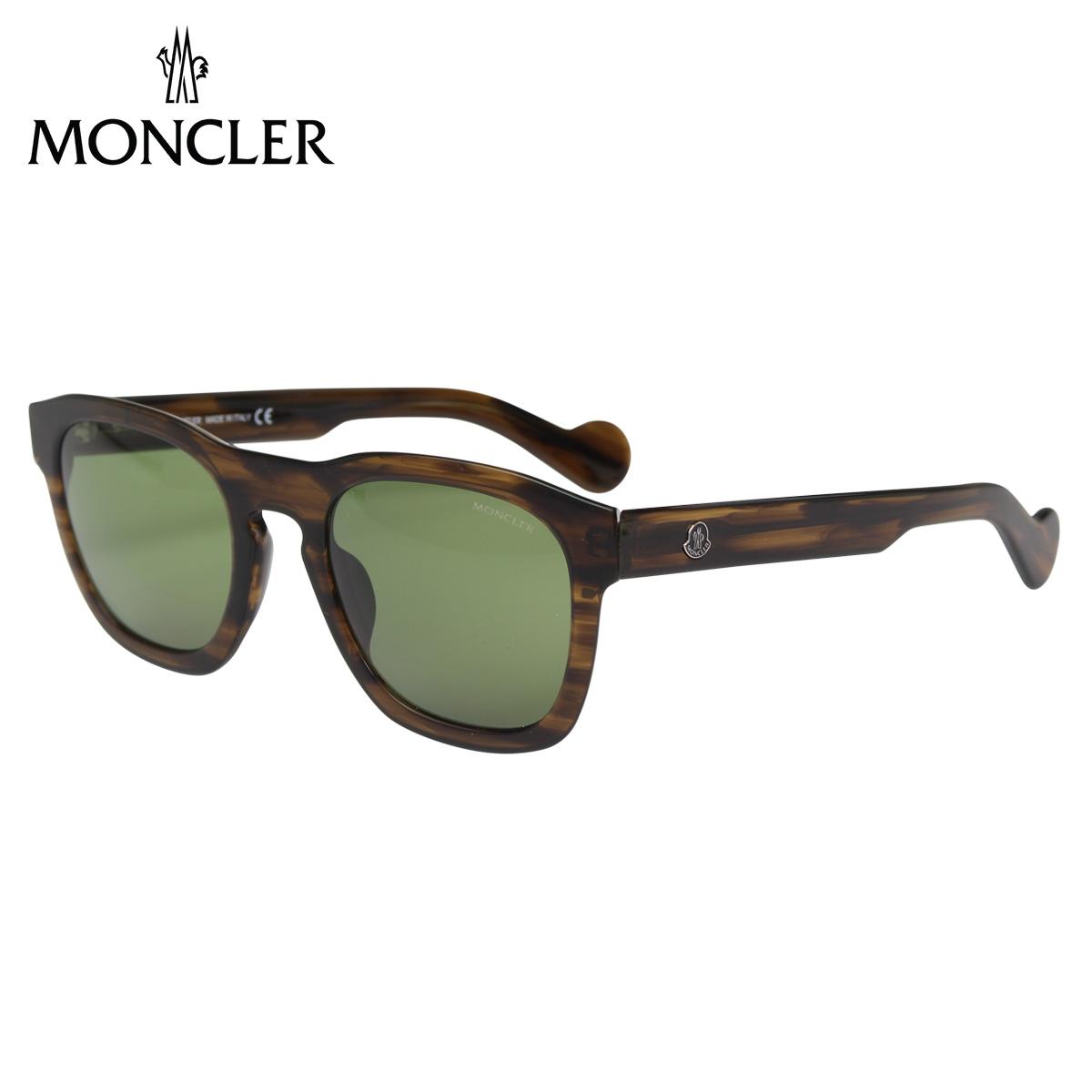 MONCLER SUNGLASSES モンクレール サングラス メンズ レディース UVカット ウェリントン ダーク ブラウン ML0093