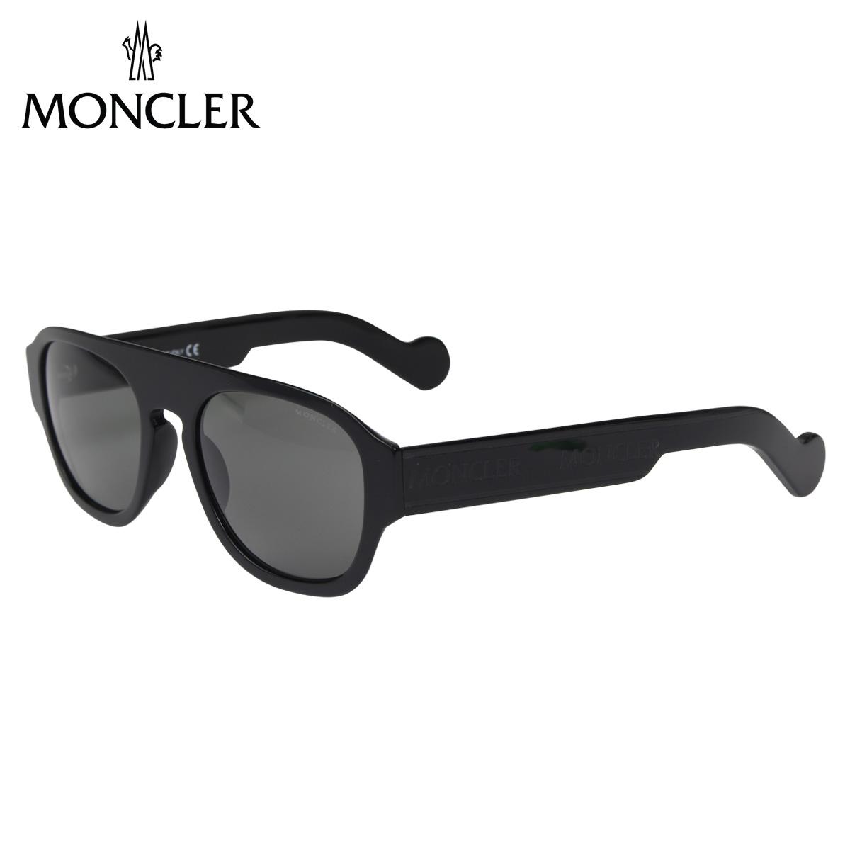 MONCLER SUNGLASSES モンクレール サングラス メンズ レディース UVカット ウェリントン ブラック 黒 ML0096