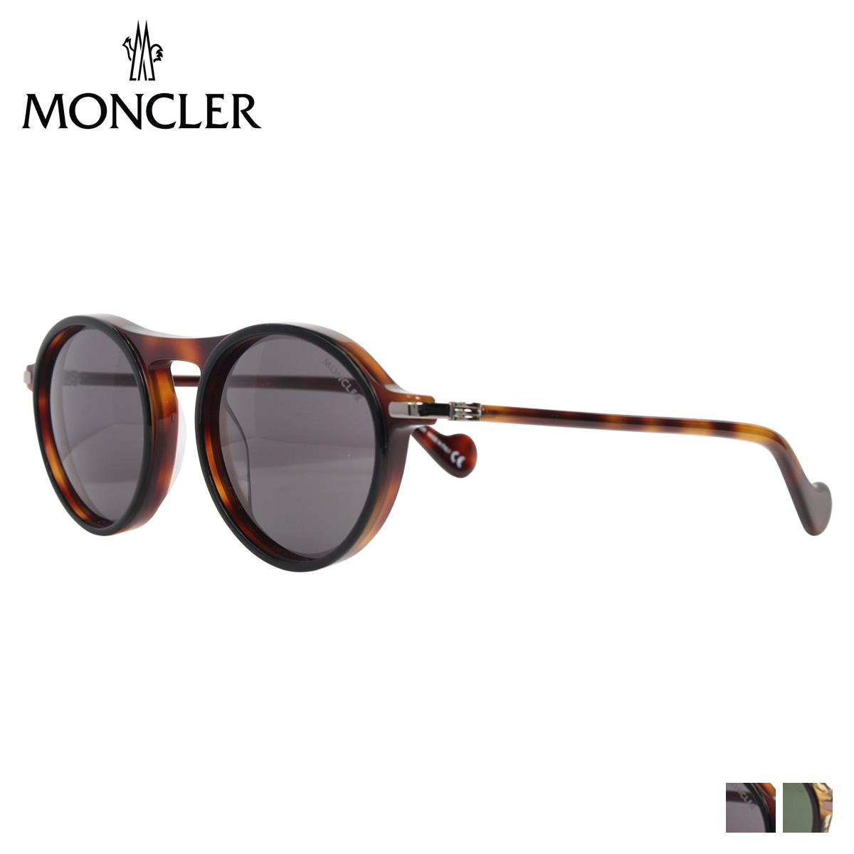 MONCLER SUNGLASSES モンクレール サングラス メンズ レディース UVカット ウェリントン ブラウン ML0103