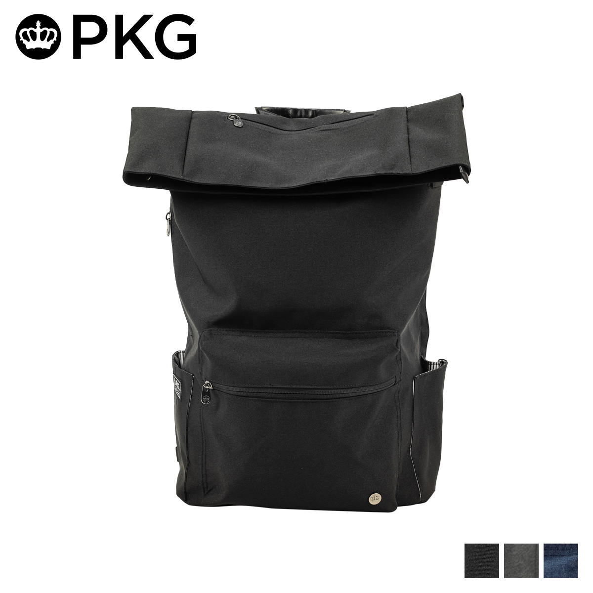 PKG BRIGHTON ピーケージー リュック バッグ バックパック メンズ レディース 25L ブラック グレー ネイビー 黒 24BR [198]