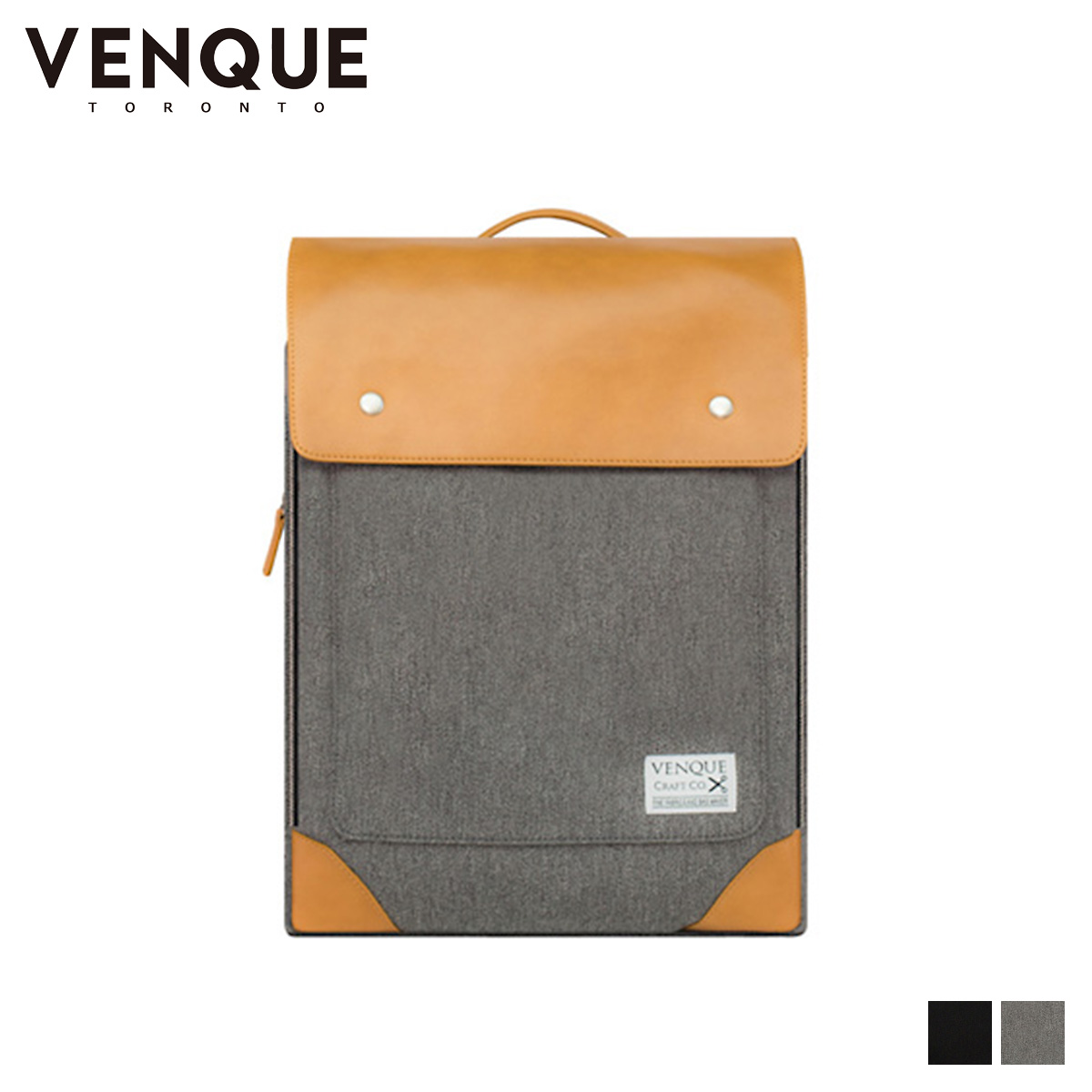 VENQUE FLATSQUARE ヴェンク リュック バッグ バックパック メンズ レディース 24L ブラック グレー 黒 [7/22 追加入荷]