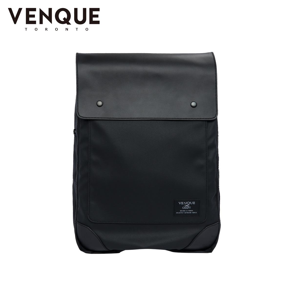 VENQUE FLATSQUR HYBERLIGH ヴェンク リュック バッグ バックパック メンズ レディース 24L ブラック 黒