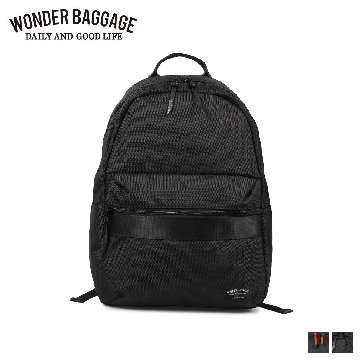 WONDER BAGGAGE GOODMANS LIGHT PACK ワンダーバゲージ リュック バッグ バックパック メンズ レディース 18L ブラック ネイビー 黒 WB-G-022