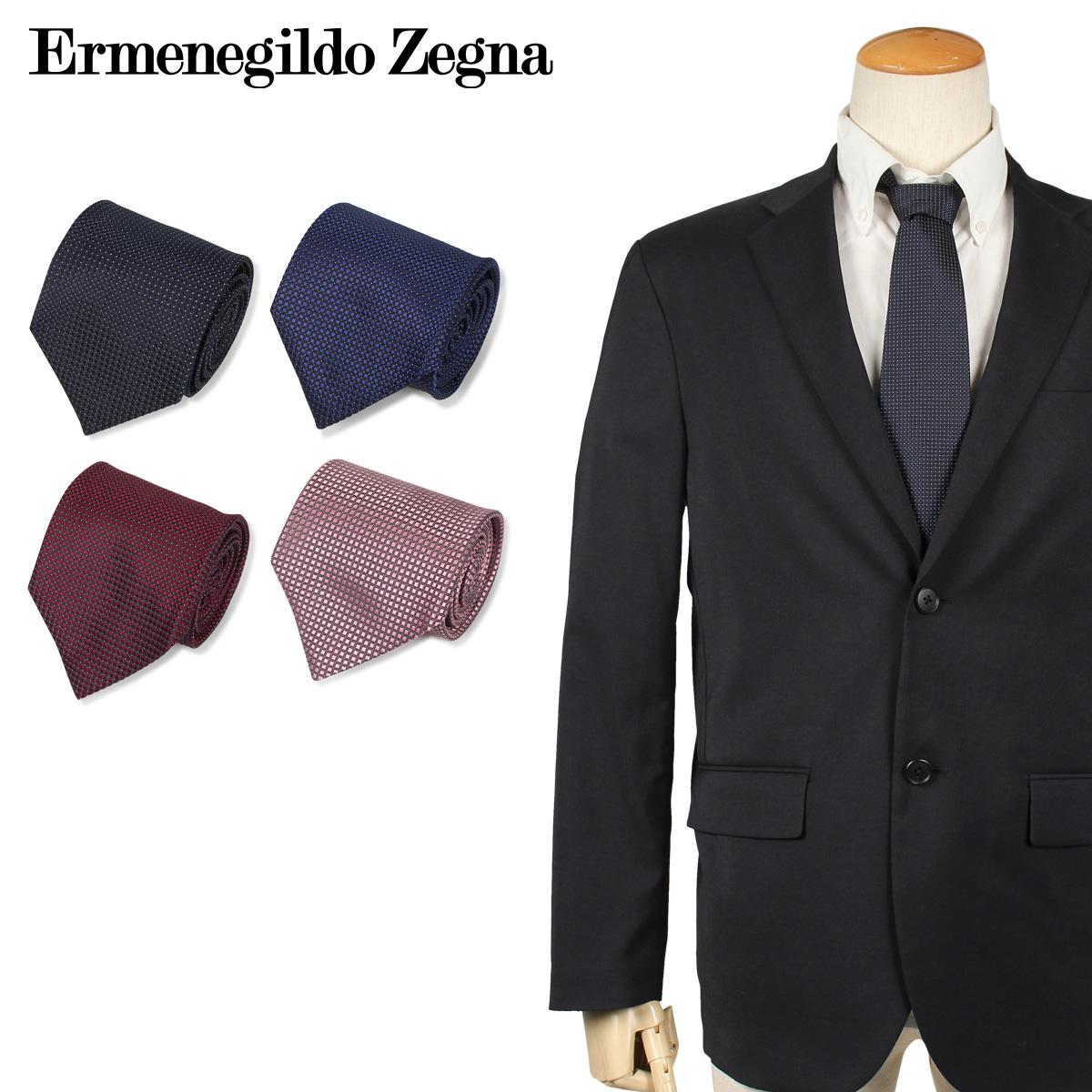 Ermenegildo Zegna エルメネジルドゼニア ネクタイ メンズ イタリア製 シルク ビジネス 結婚式 ブラック ネイビー ワインレッド ピンク
