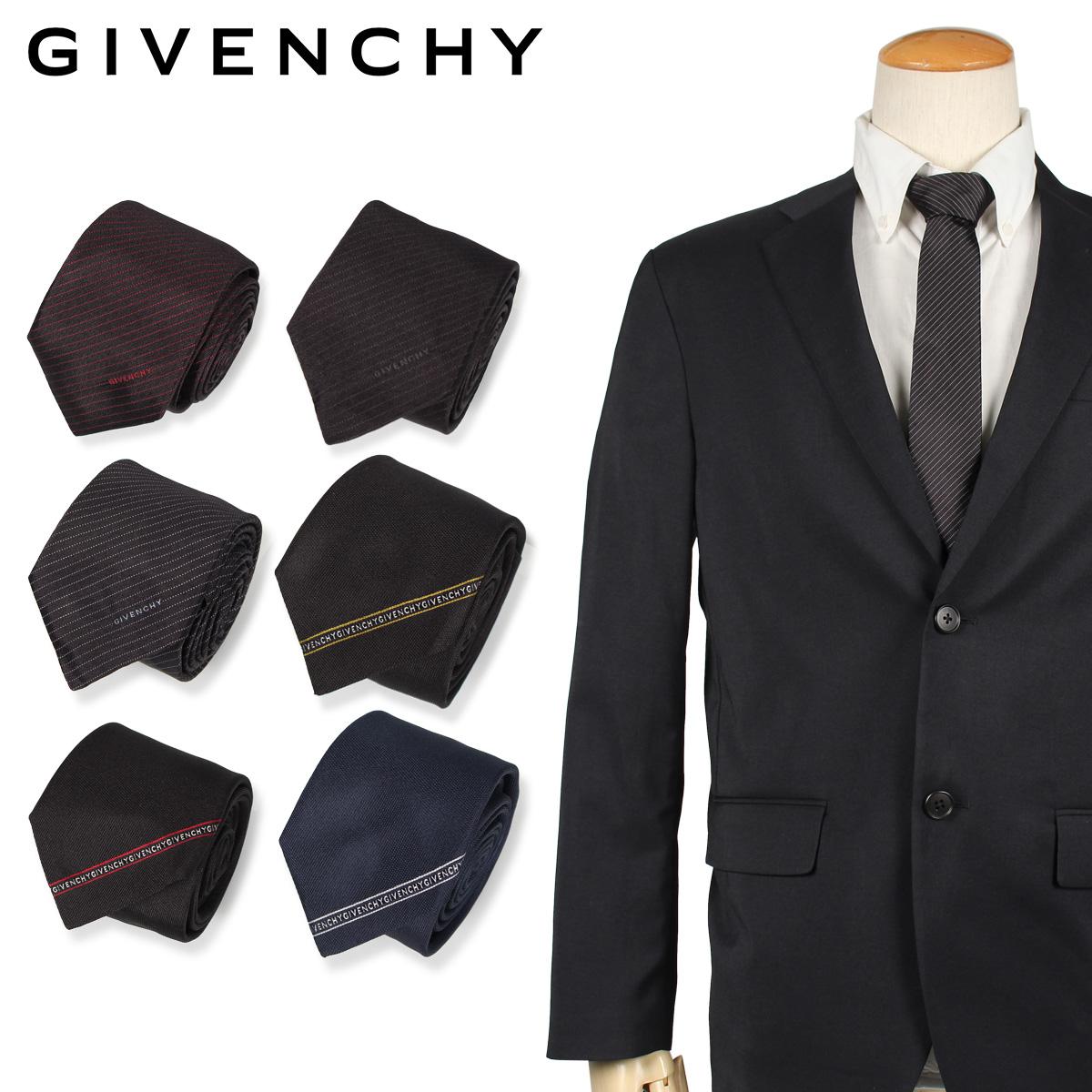 GIVENCHY ジバンシー ネクタイ メンズ イタリア製 シルク ビジネス 結婚式 ブラック ネイビー 黒