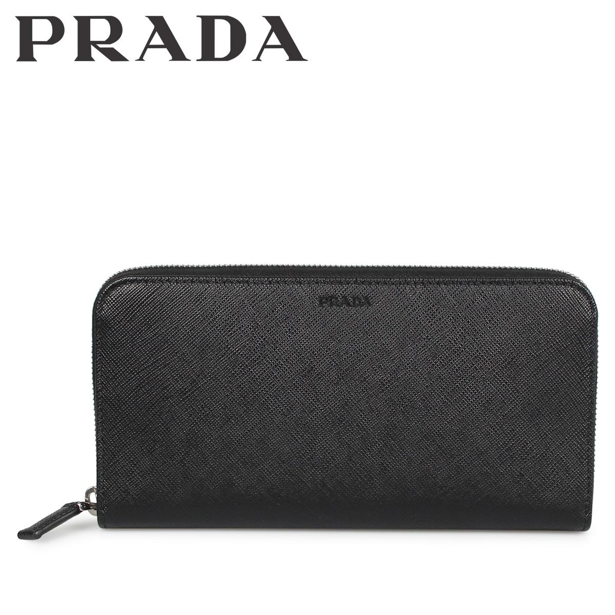 PRADA ZIP AROUND プラダ 財布 長財布 メンズ サフィアーノ ラウンドファスナー ブラック 黒 2ML317053