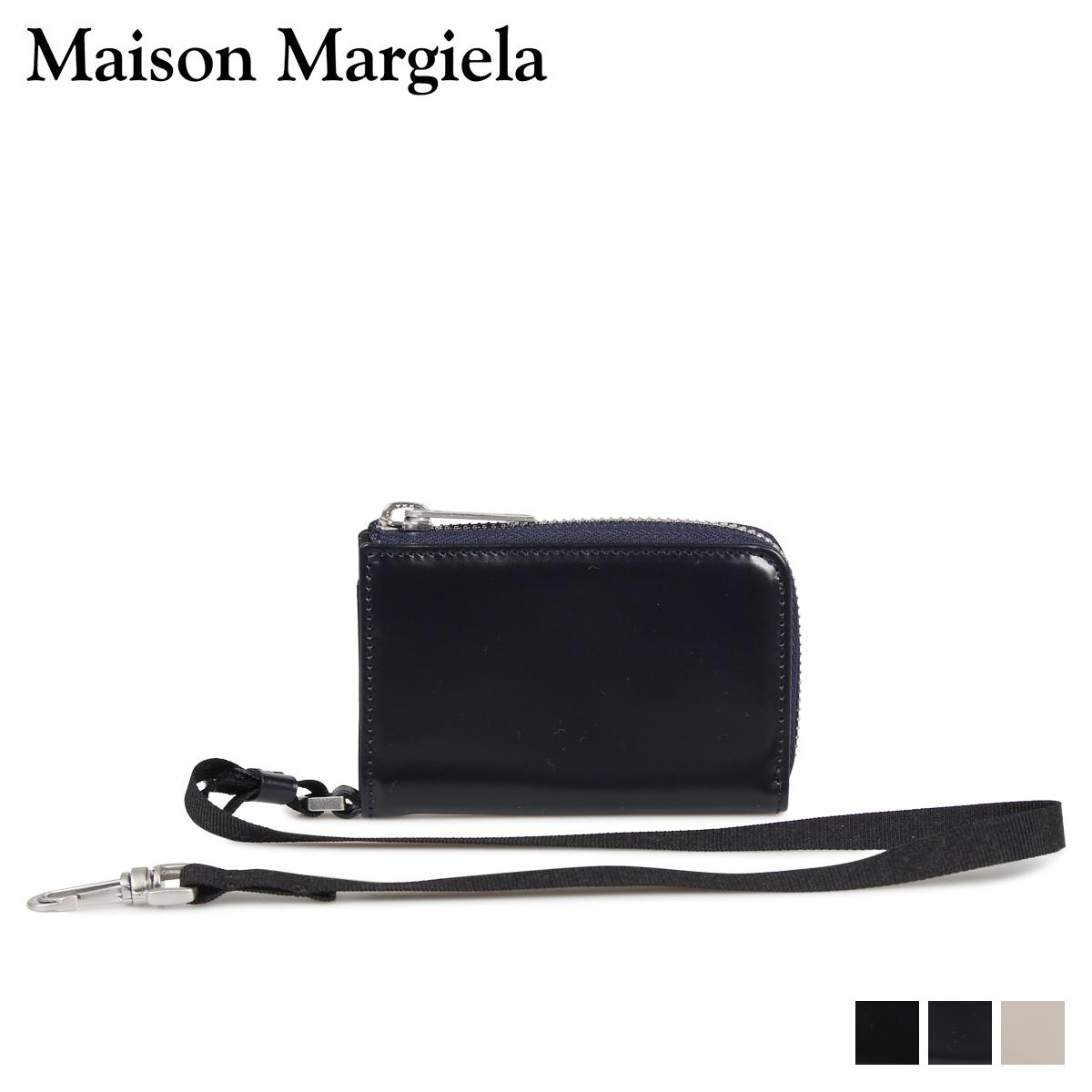 MAISON MARGIELA COIN CASE メゾンマルジェラ 財布 コインケース 小銭入れ メンズ レディース L字ファスナー レザー ブラック ダーク ネイビー ベージュ 黒 S55UI0200 P2714 [10/9 新入荷]