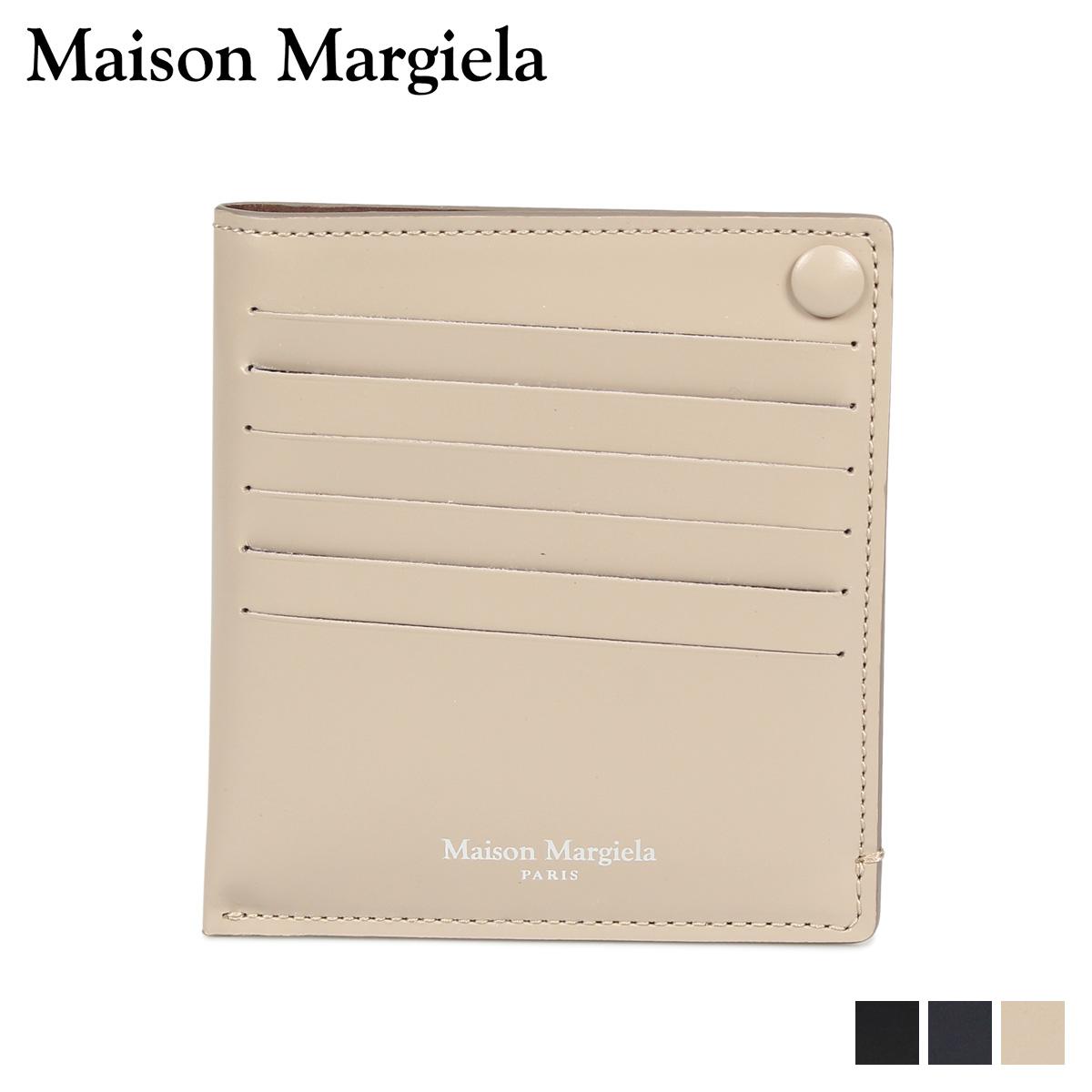 MAISON MARGIELA CARD CASE メゾンマルジェラ カードケース 名刺入れ 定期入れ メンズ レディース レザー ブラック ダーク ネイビー ベージュ 黒 S55UI0201 P2714