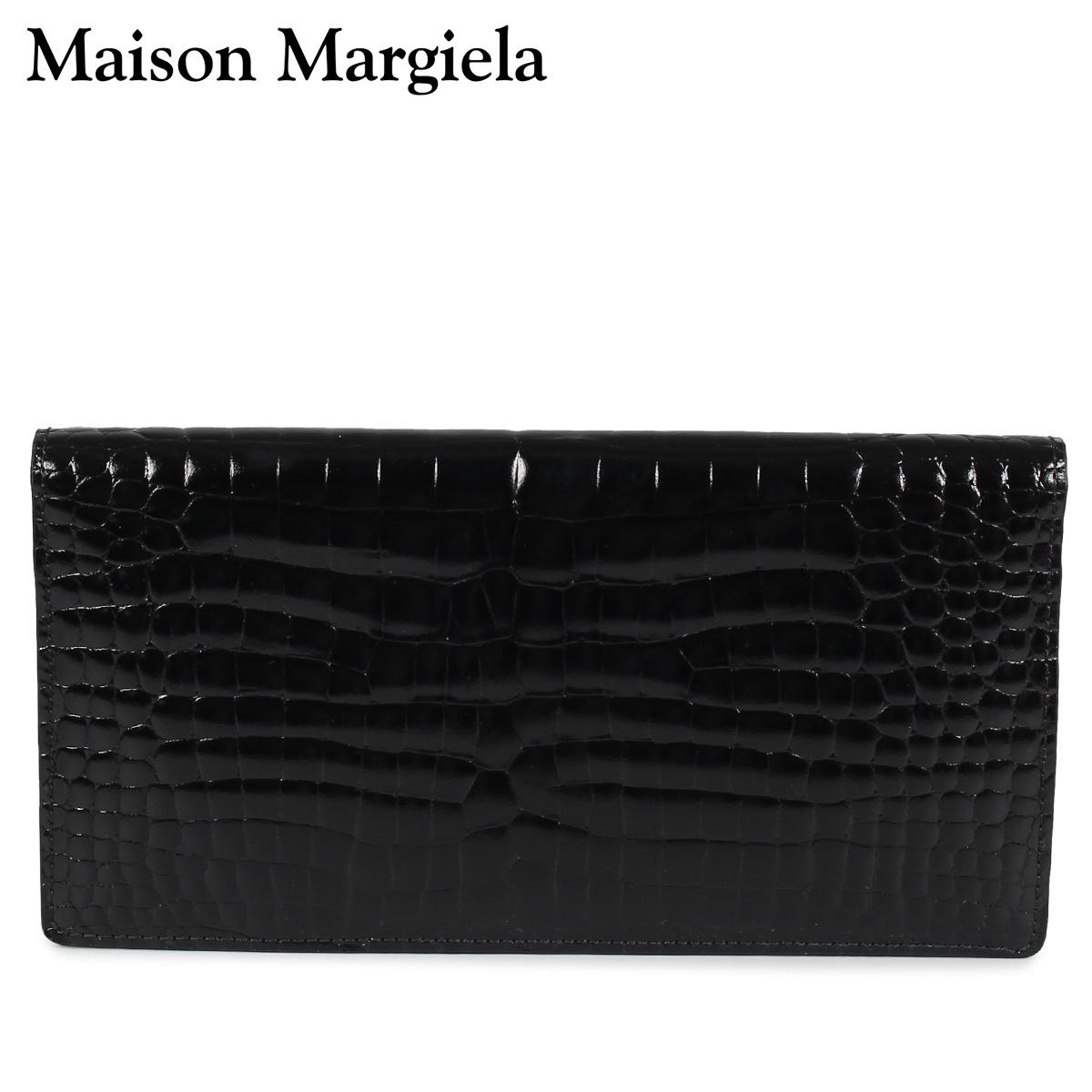 MAISON MARGIELA LONG WALLET メゾンマルジェラ 財布 長財布 メンズ レザー ブラック 黒 S55UI0202 P0195 [10/8 新入荷]