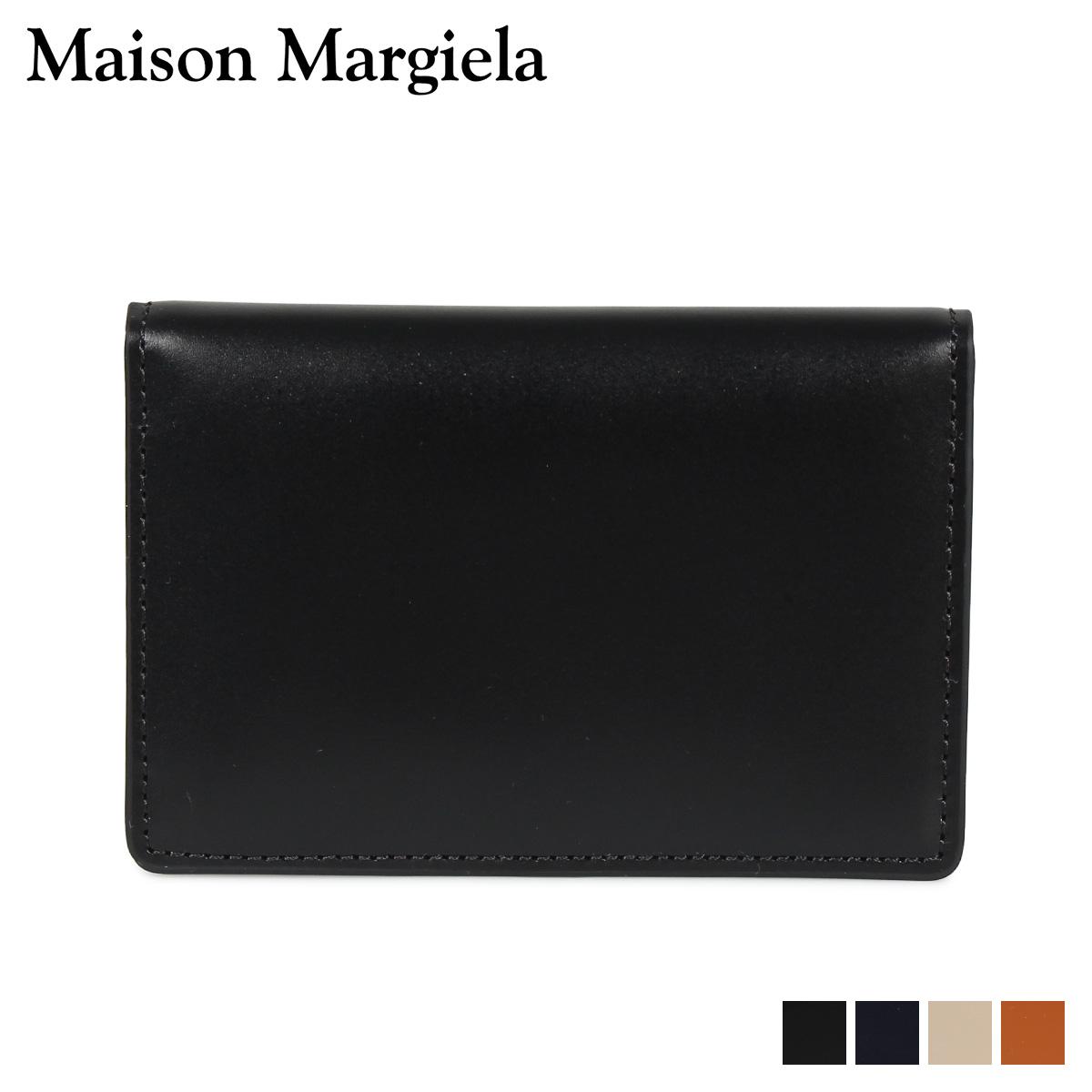 MAISON MARGIELA CARD CASE メゾンマルジェラ カードケース 名刺入れ 定期入れ メンズ レディース レザー ブラック ダーク ネイビー ベージュ ブラウン 黒 S55UI0201 P2714 [10/9 新入荷]