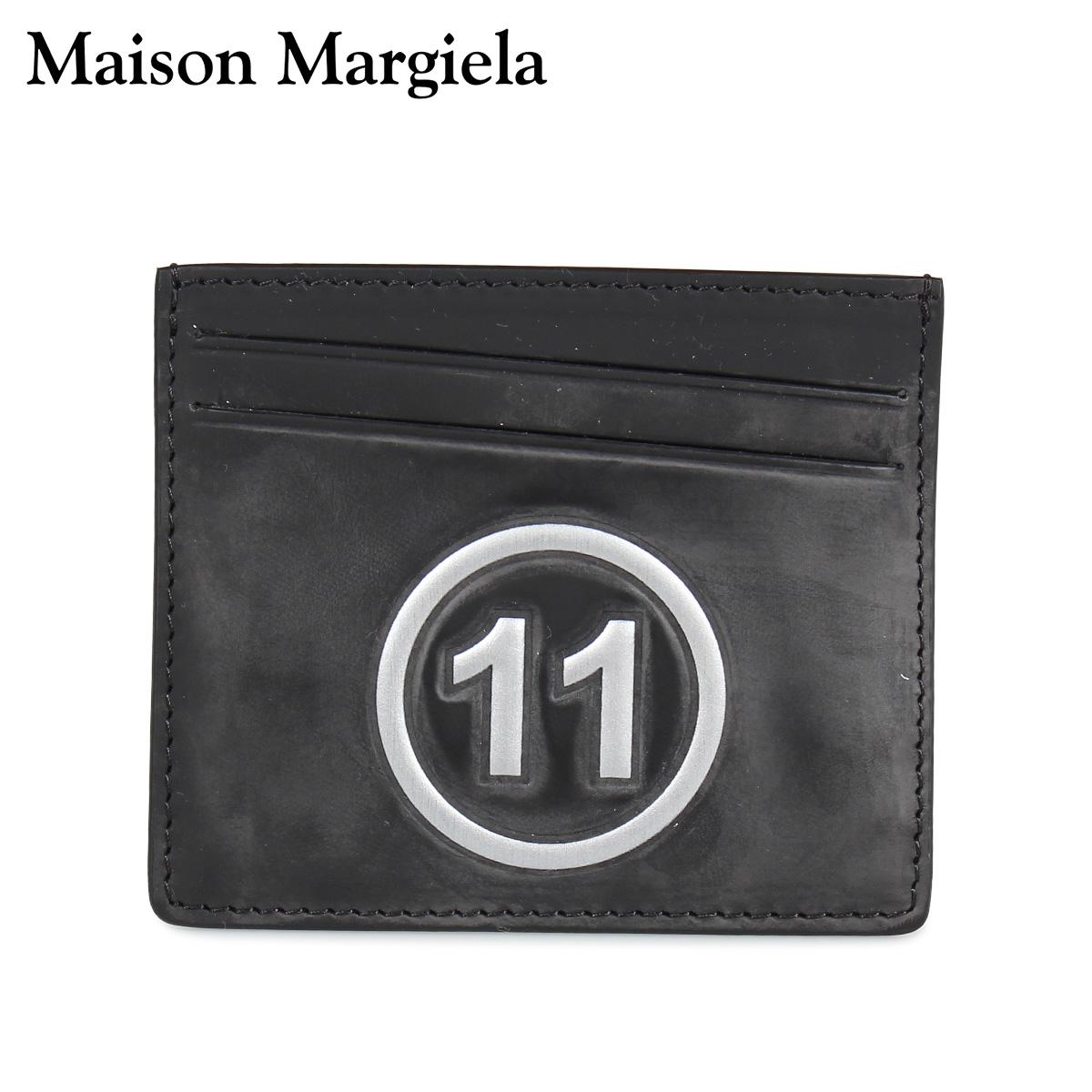 MAISON MARGIELA CARD CASE メゾンマルジェラ カードケース 名刺入れ 定期入れ メンズ レディース レザー ブラック 黒 S35UI0432 P0047 [10/8 新入荷]