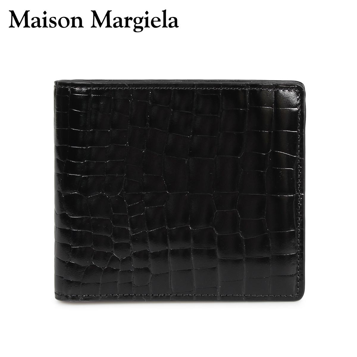 MAISON MARGIELA MINI WALLET メゾンマルジェラ 財布 ミニ財布 二つ折り メンズ レディース レザー ブラック 黒 S35UI0435 P0195 [10/8 新入荷]