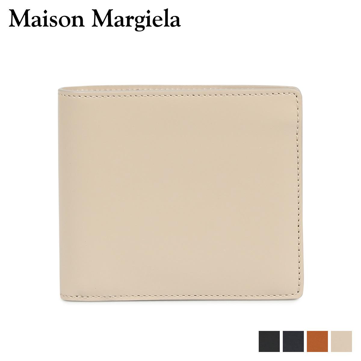 MAISON MARGIELA BI-FOLD WALLET メゾンマルジェラ 財布 二つ折り メンズ レディース レザー ブラック ダーク ネイビー ベージュ ブラウン 黒 S35UI0435 P2714