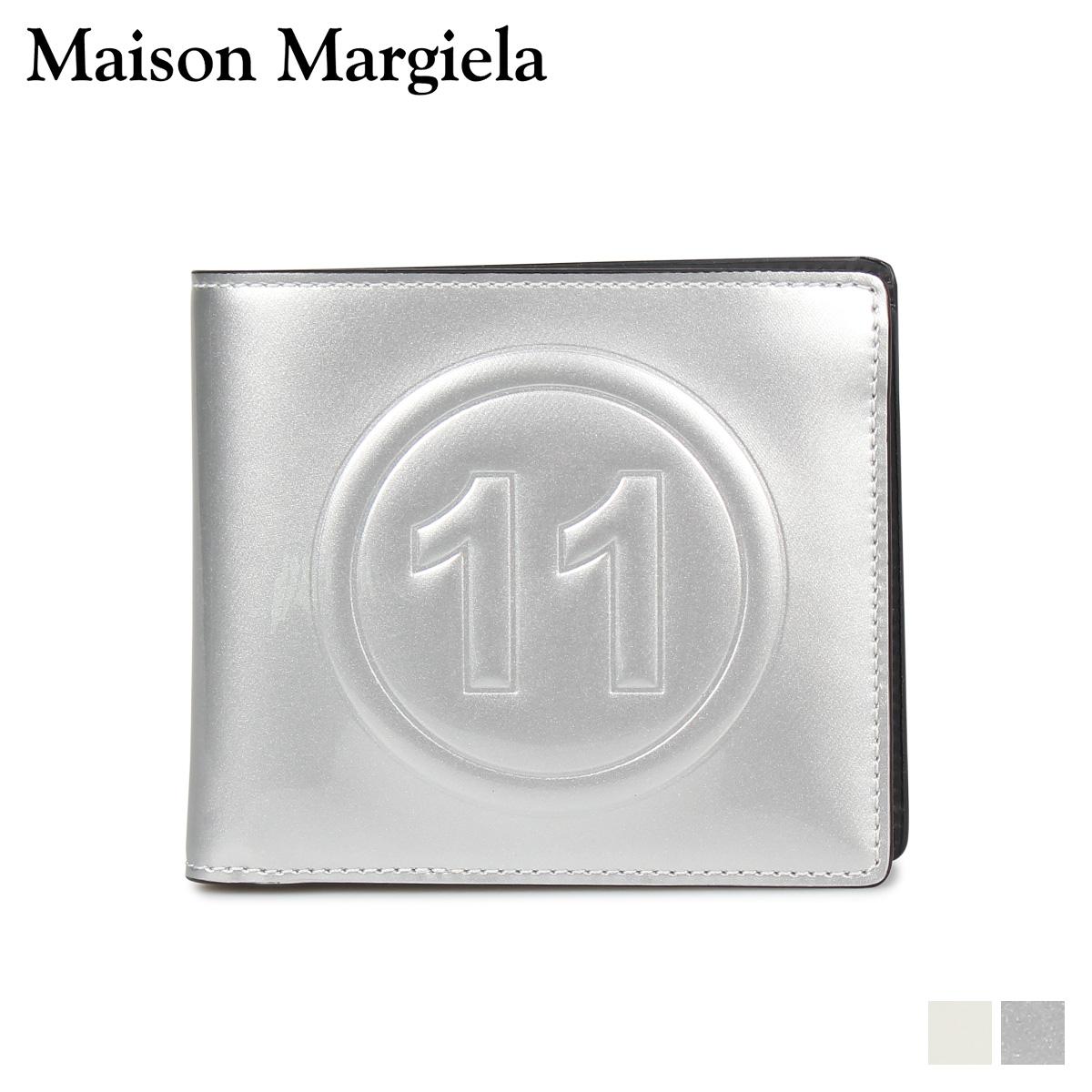 MAISON MARGIELA BI-FOLD WALLET メゾンマルジェラ 財布 二つ折り メンズ レディース レザー ホワイト シルバー 白 S35UI0435 PR213