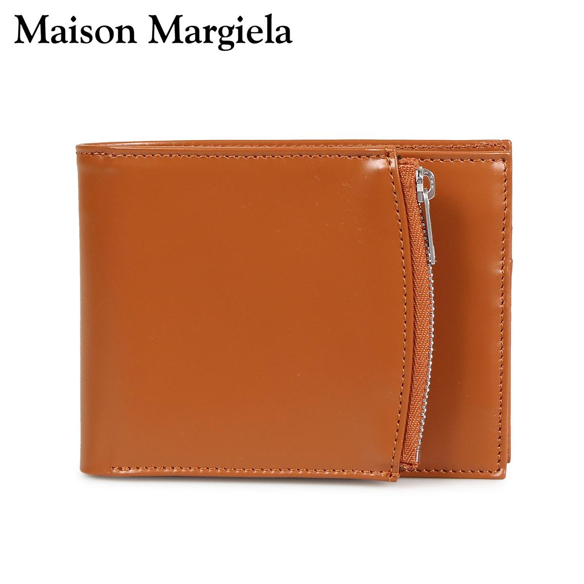 MAISON MARGIELA BI-FOLD WALLET メゾンマルジェラ 財布 二つ折り メンズ レディース レザー ブラウン S35UI0436 P2714