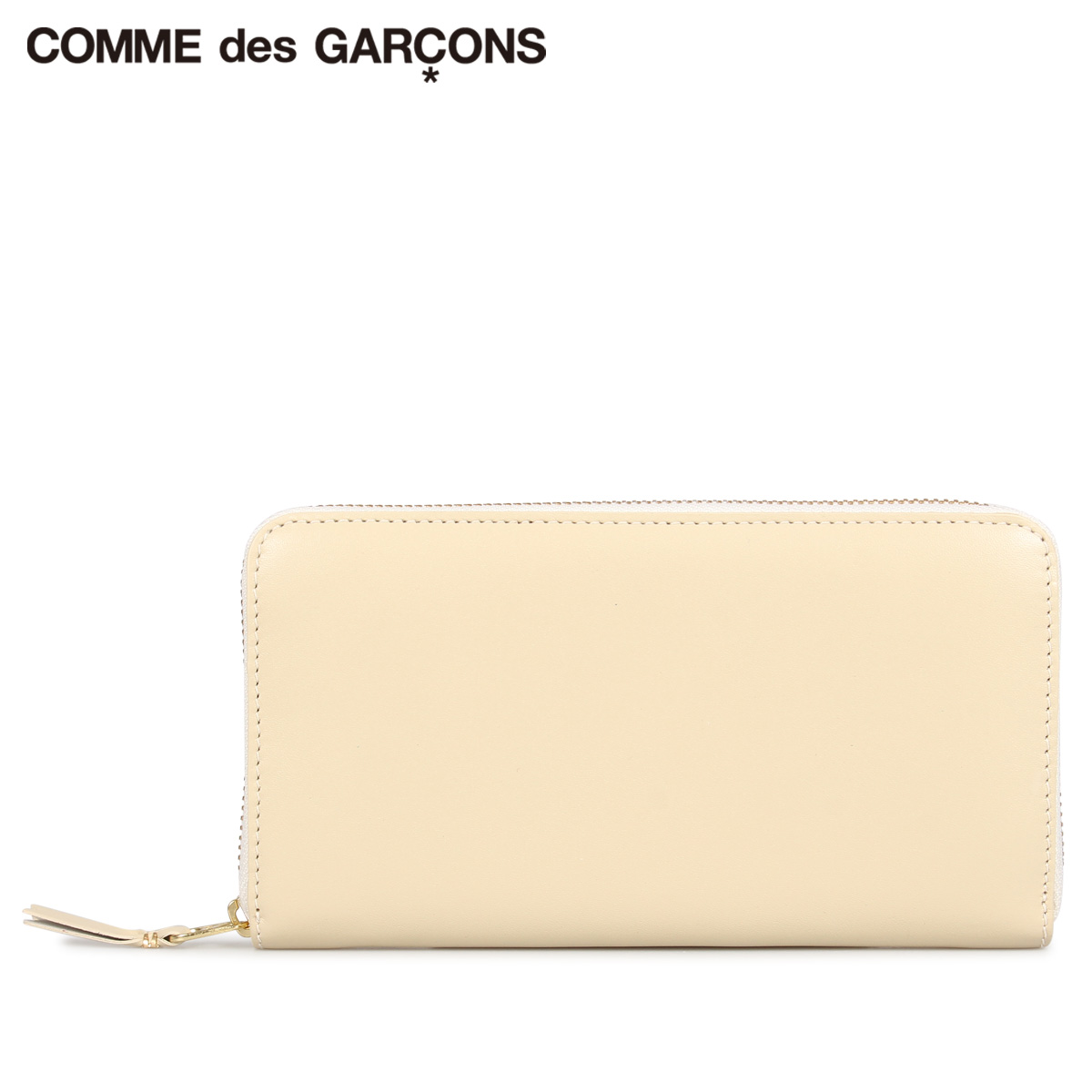 COMME des GARCONS CLASSIC WALLET コムデギャルソン 財布 長財布 メンズ レディース ラウンドファスナー 本革 オフ ホワイト SA0111