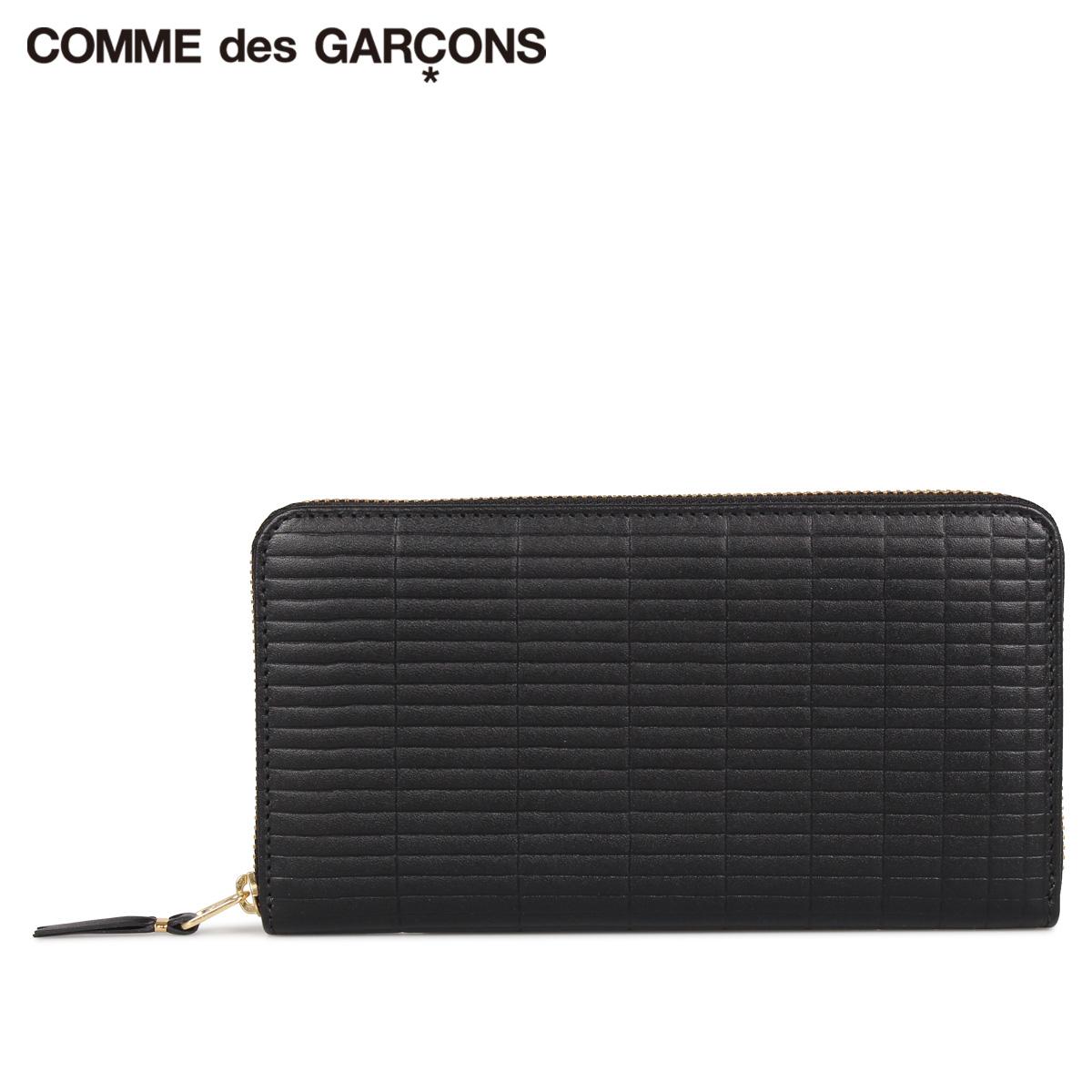 COMME des GARCONS BRICK WALLET コムデギャルソン 財布 長財布 メンズ レディース ラウンドファスナー 本革 ブラック 黒 SA0111BK