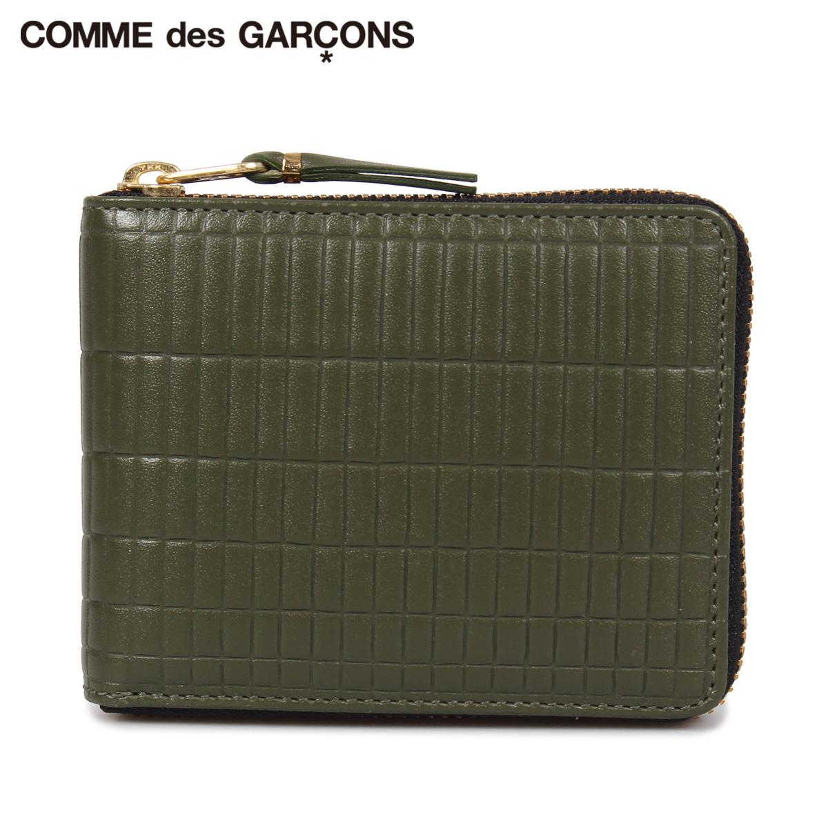 COMME des GARCONS BRICK WALLET コムデギャルソン 財布 二つ折り メンズ レディース 本革 ラウンドファスナー カーキ SA7100BK [10/10 新入荷]