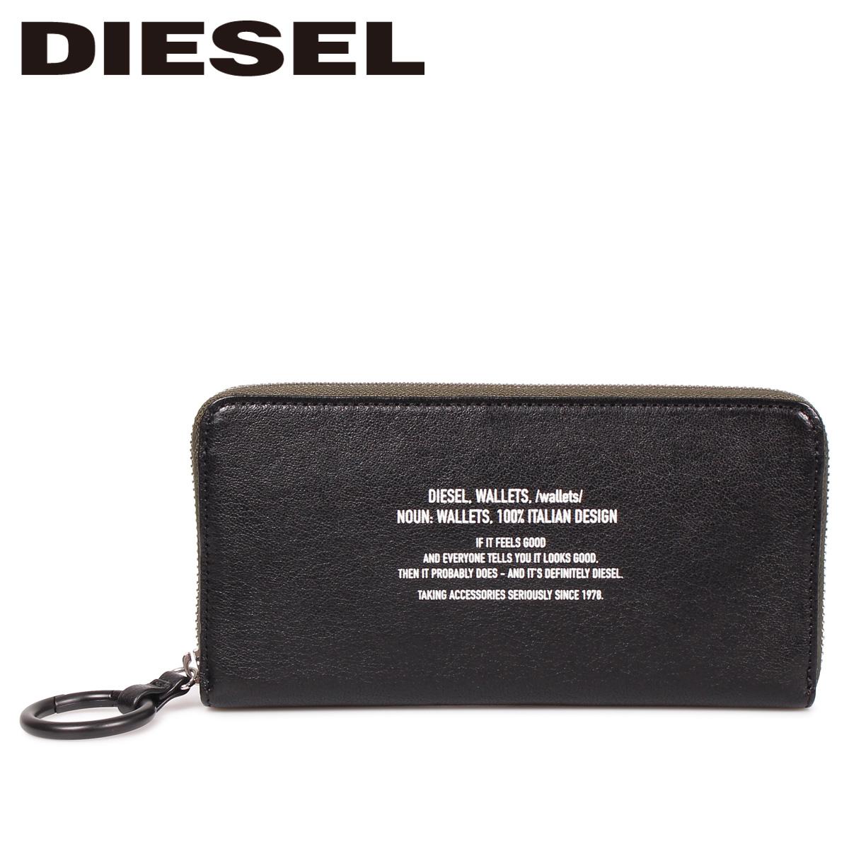 DIESEL BANDER 24 ZIP ディーゼル 財布 長財布 メンズ ラウンドファスナー 本革 ブラック 黒 X06296 PS142