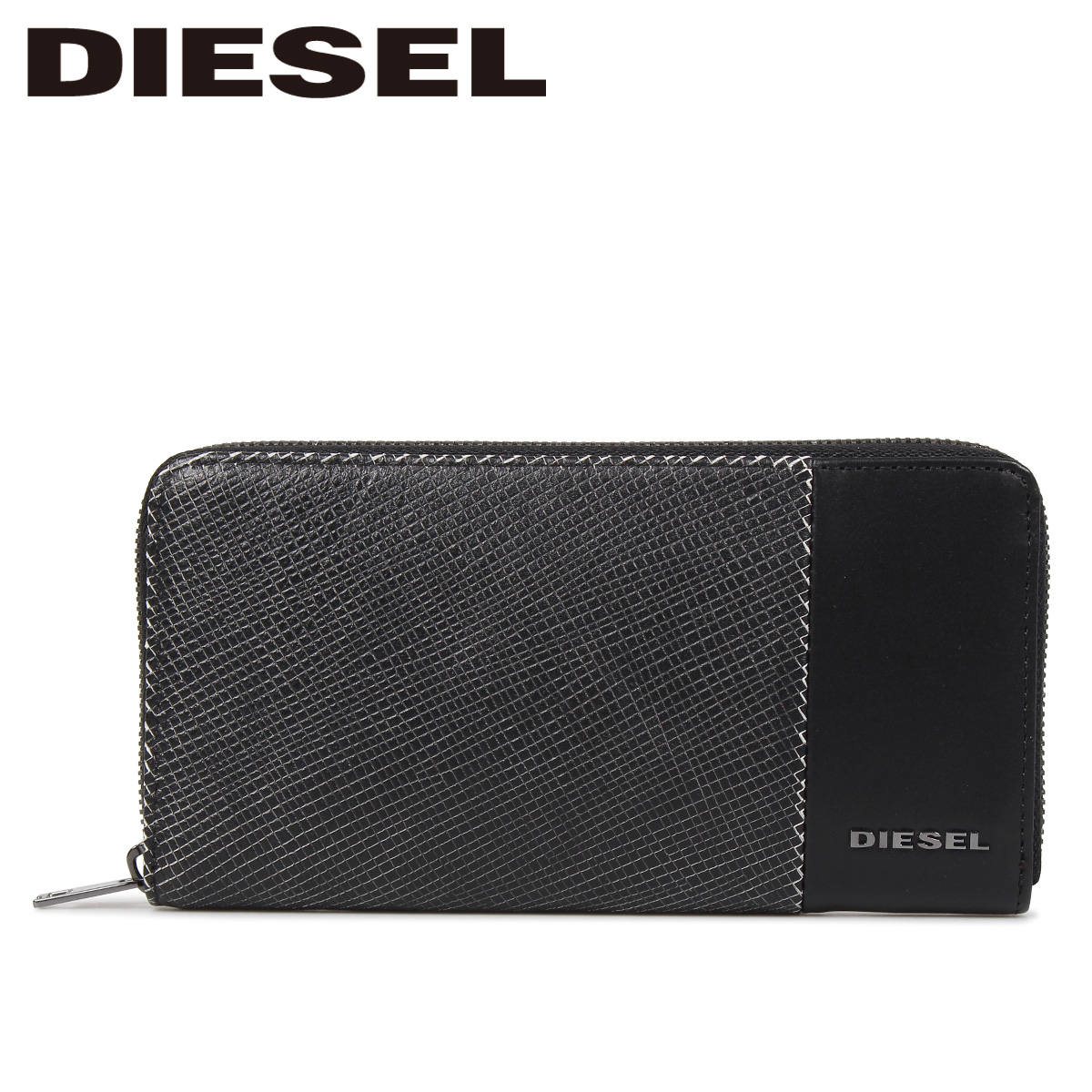 DIESEL CALTRANO 24 ZIP ディーゼル 財布 長財布 メンズ ラウンドファスナー 本革 ブラック 黒 X06312 P0598
