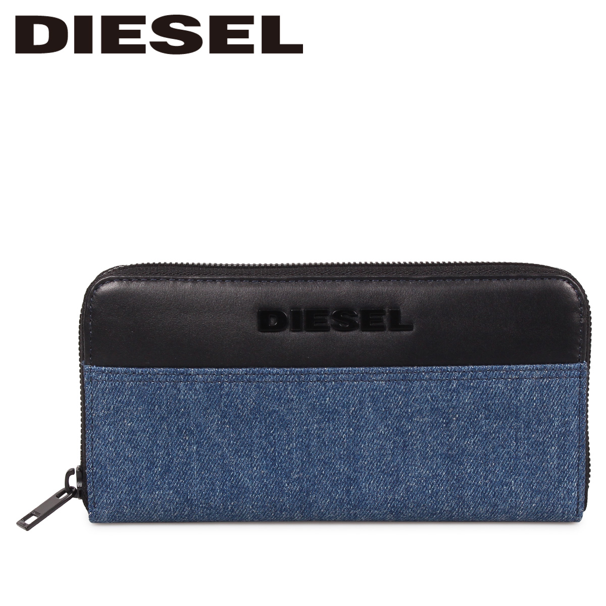 DIESEL 24 ZIP TOLLE ディーゼル 財布 長財布 メンズ ラウンドファスナー 本革 ブルー X06320 P2553