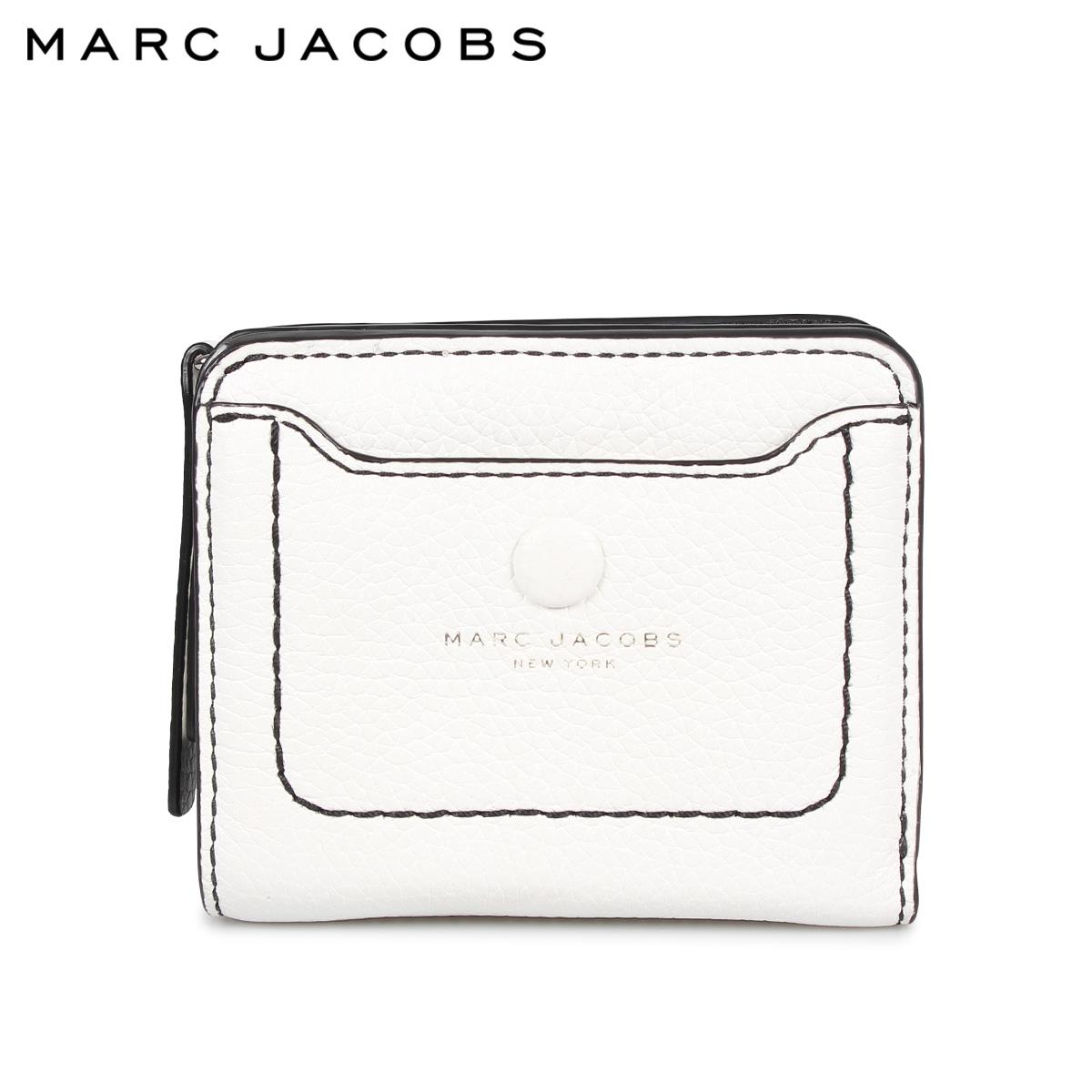 MARC JACOBS MINI COMPACT WALLET マークジェイコブス 財布 二つ折り レディース 本革 ホワイト 白 M0014215
