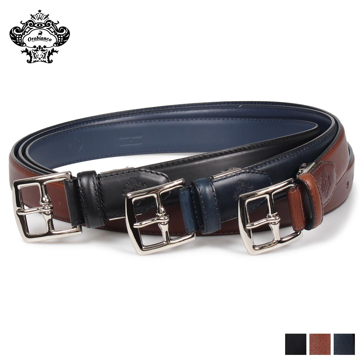 Orobianco ORB-011228 オロビアンコ ベルト レザーベルト ビジネス メンズ 本革 ブラック ネイビー ダーク ブラウン レッド 黒